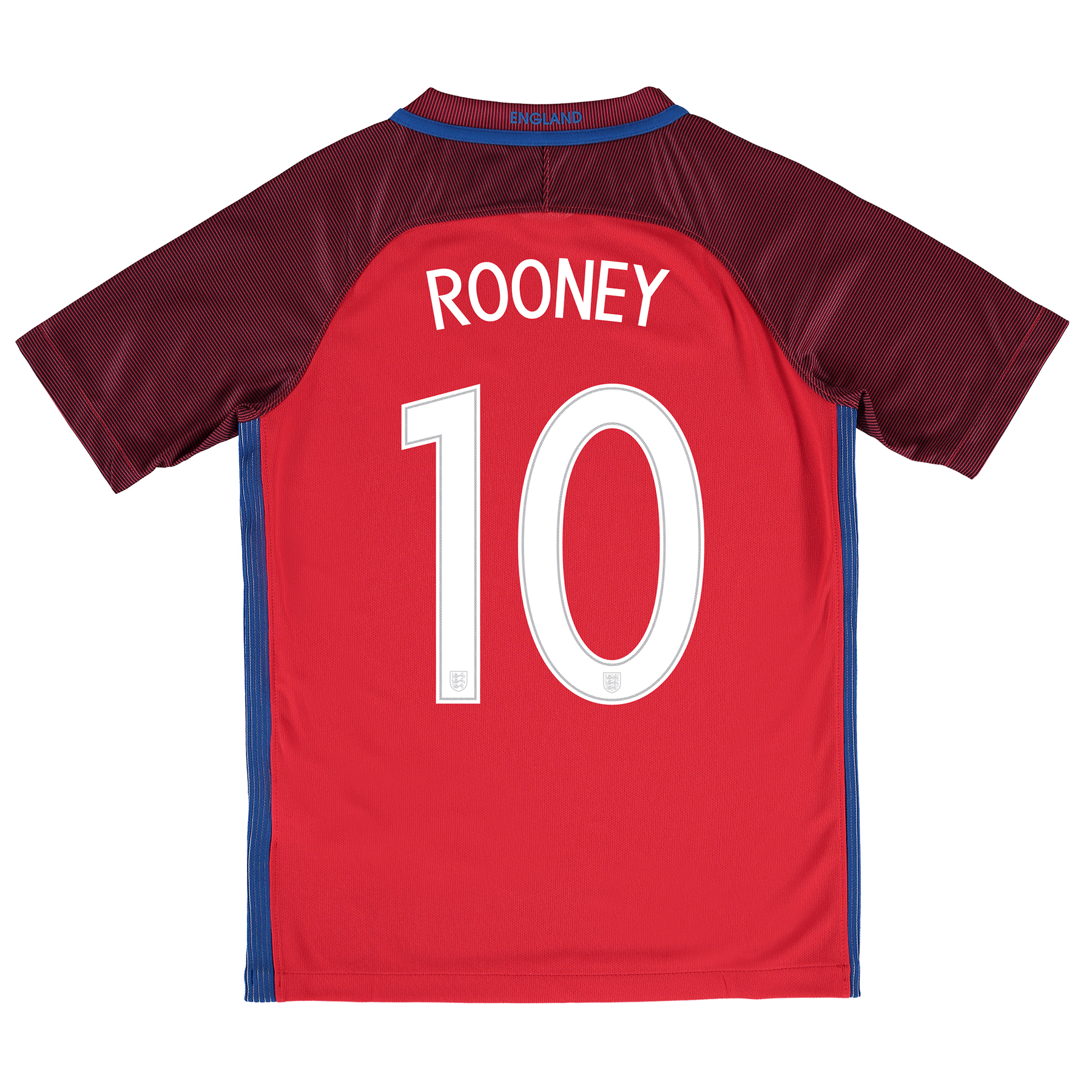 England Away Shirt 2016 - Kids with Rooney 10 printing