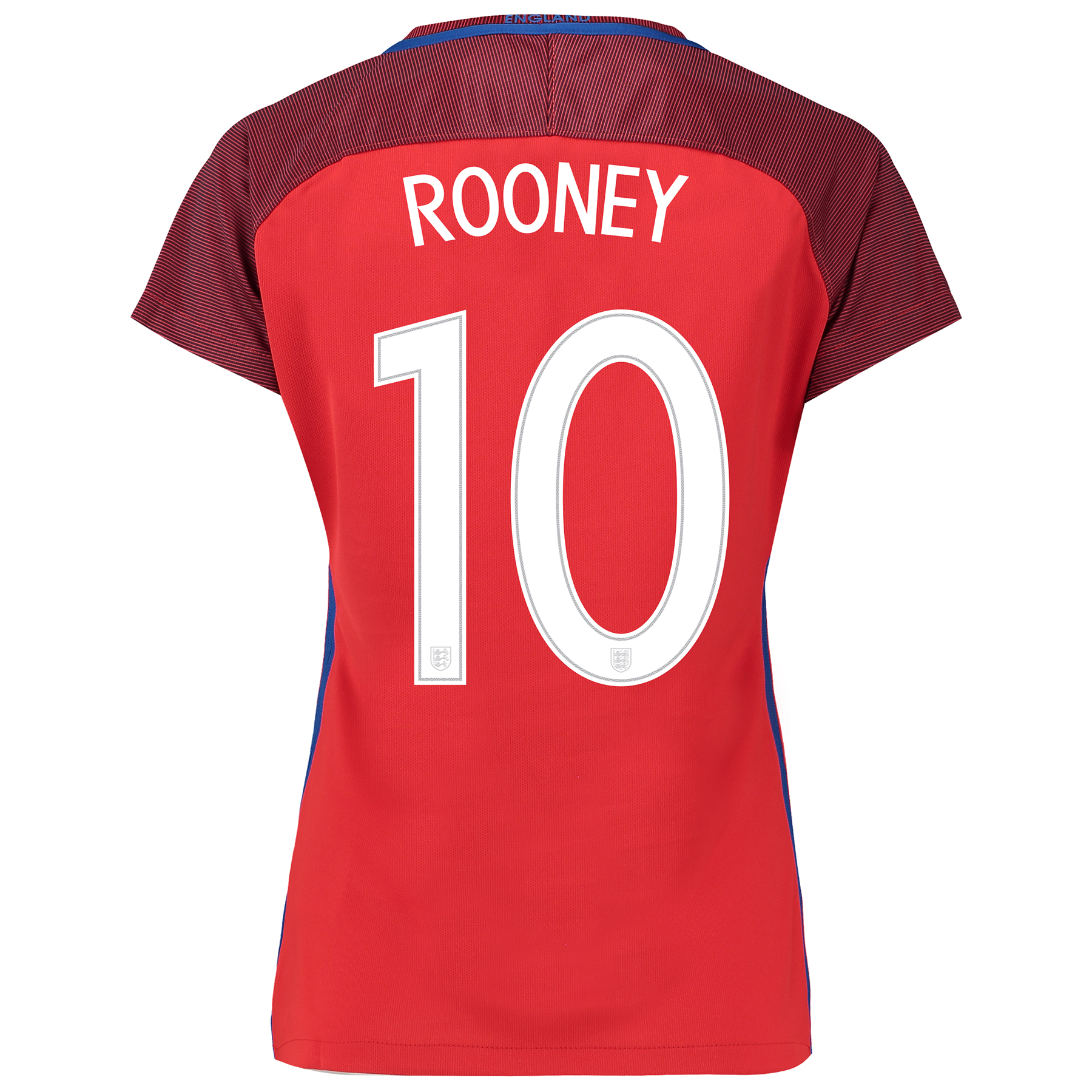 England Away Shirt 2016 - Womens with Rooney 10 printing