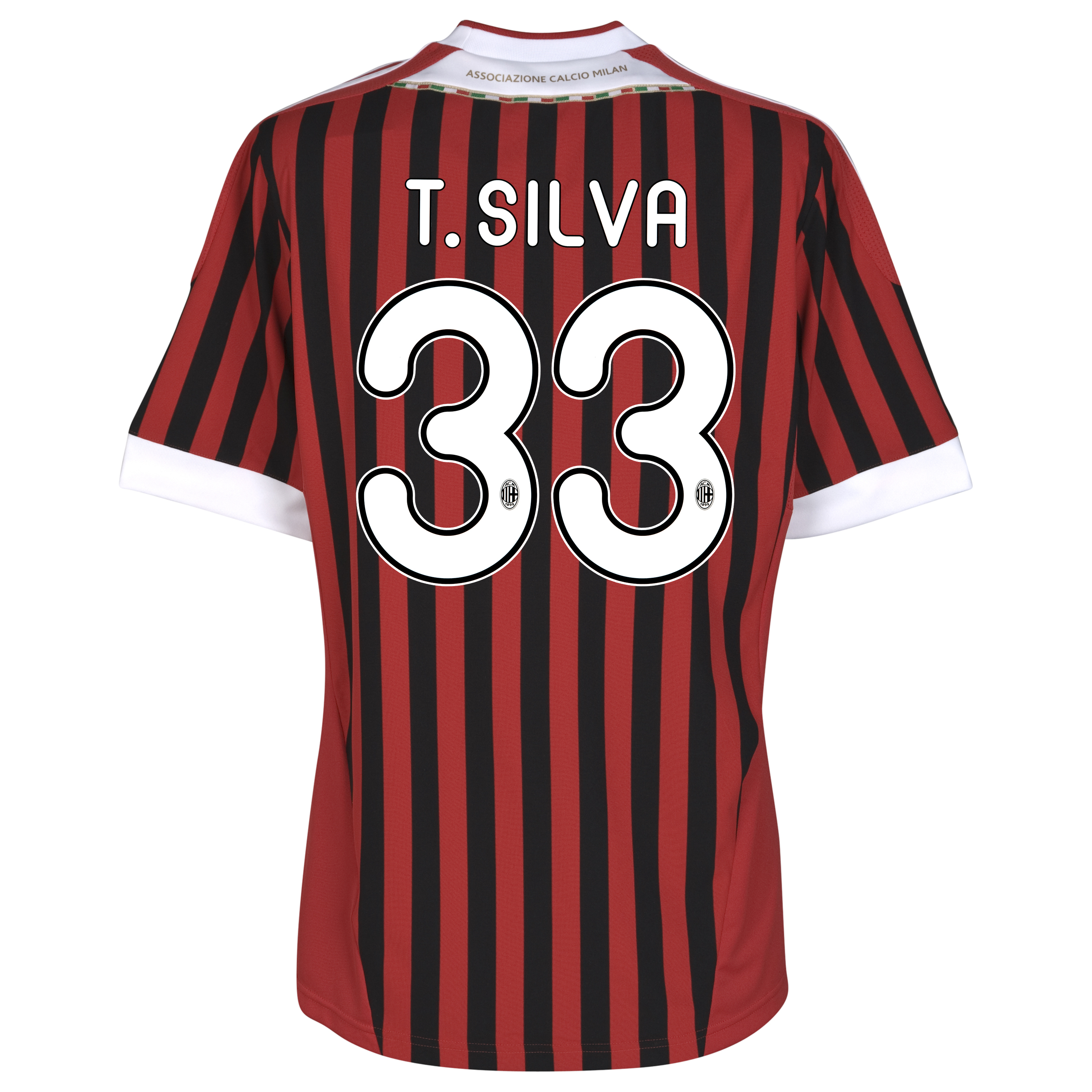 AC Milan Home Shirt 2011/12 with T.Silva 33 printing