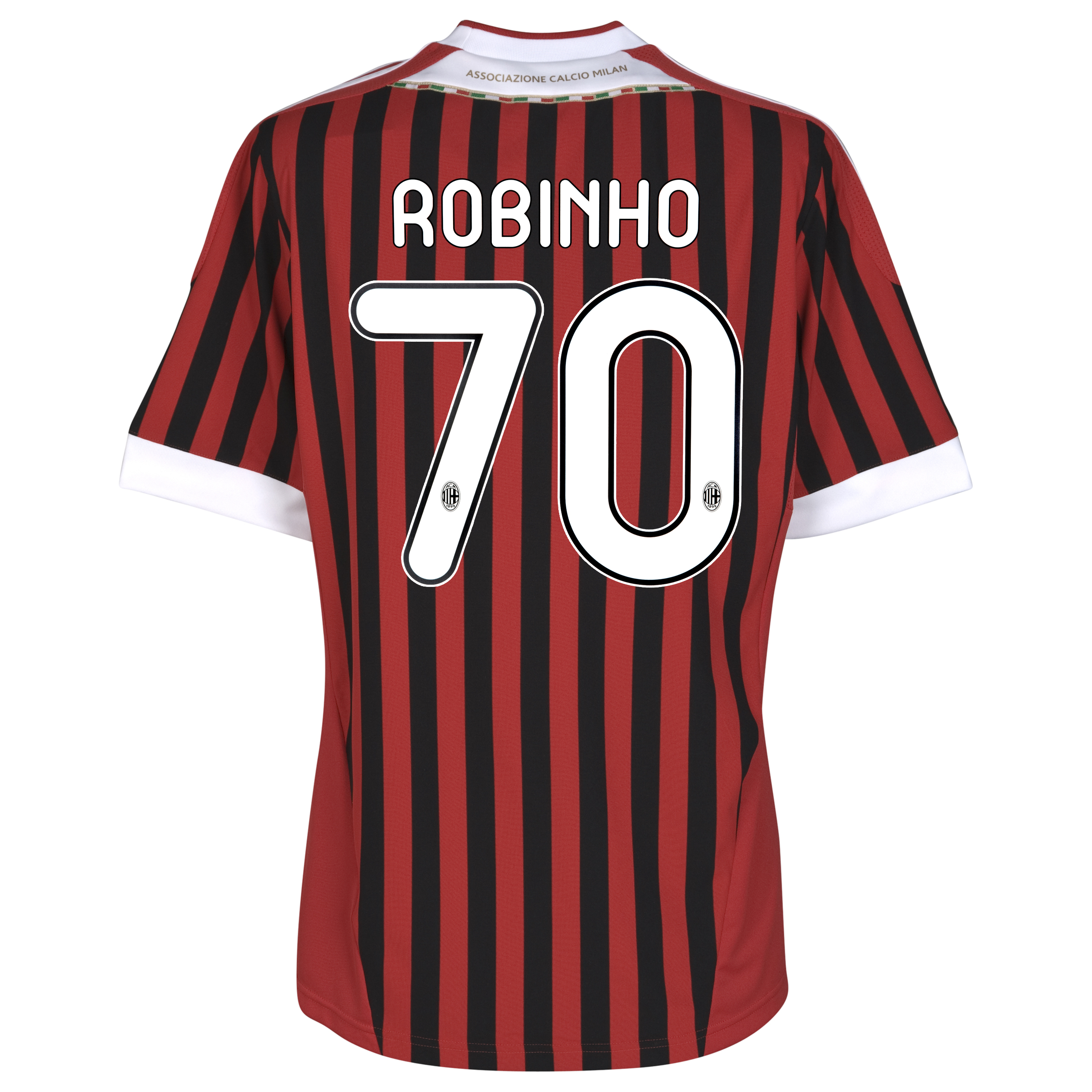 AC Milan Home Shirt 2011/12 with Robinho 70 printing