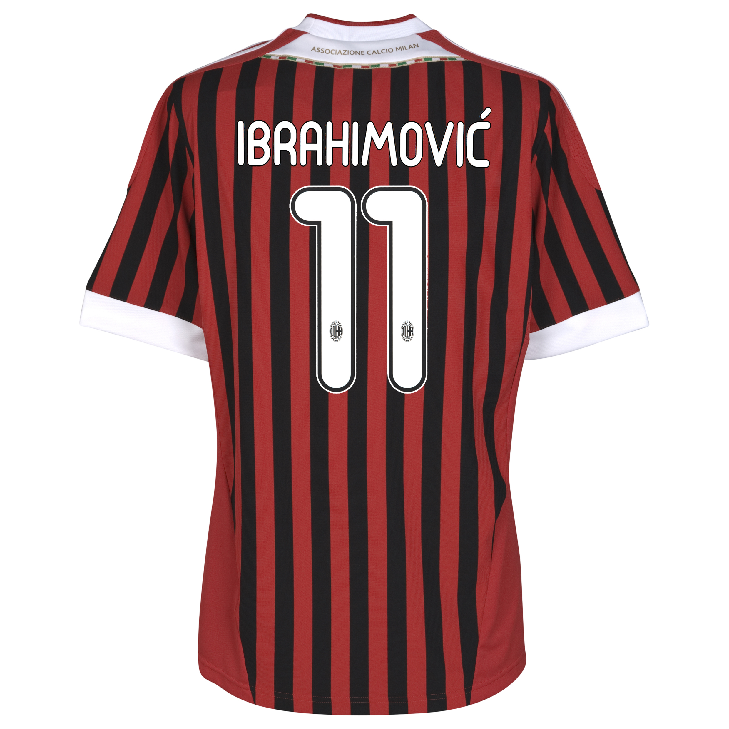 AC Milan Home Shirt 2011/12 - Kids with Ibrahimovic 11 printing