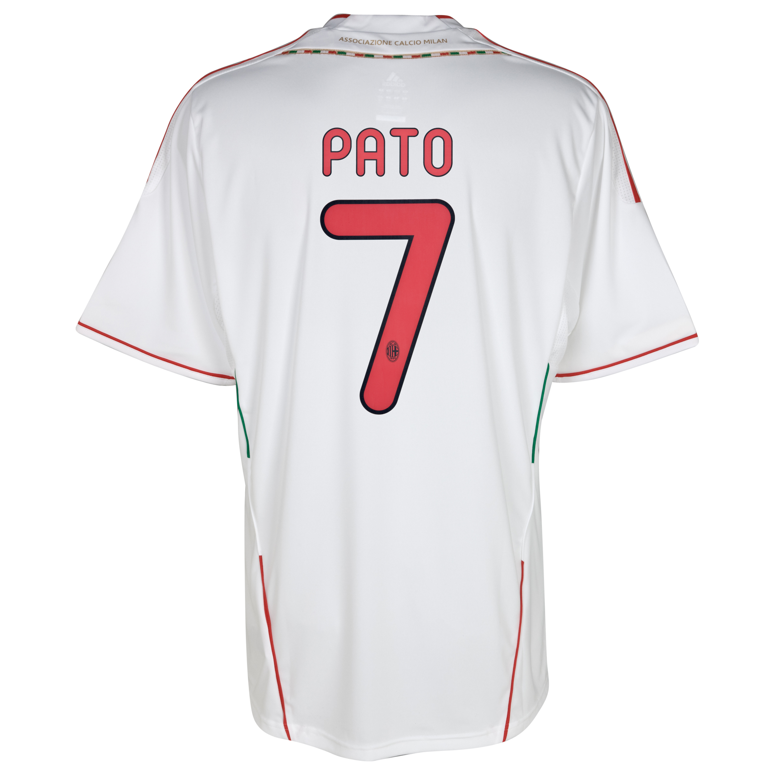 AC Milan Away Shirt 2011/12 with Pato 7 printing