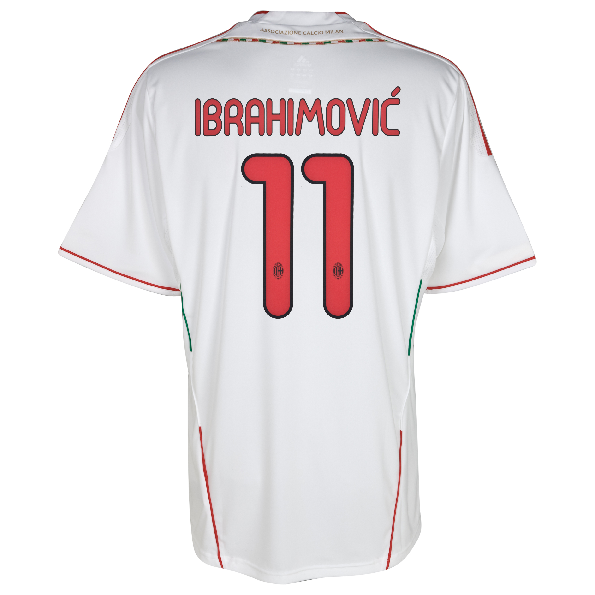 AC Milan Away Shirt 2011/12 with Ibrahimovic 11 printing