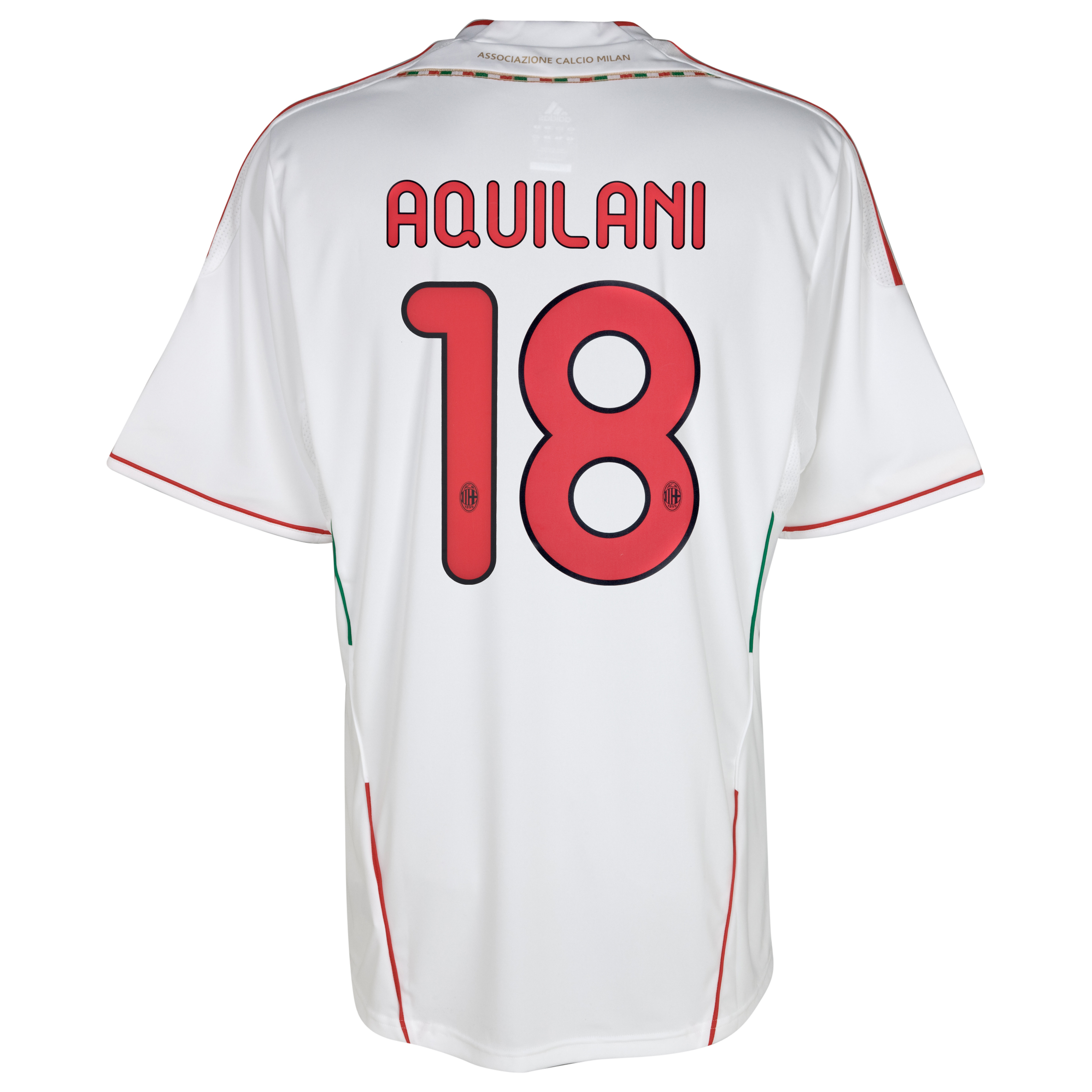 AC Milan Away Shirt 2011/12 with Aquilani 18 printing