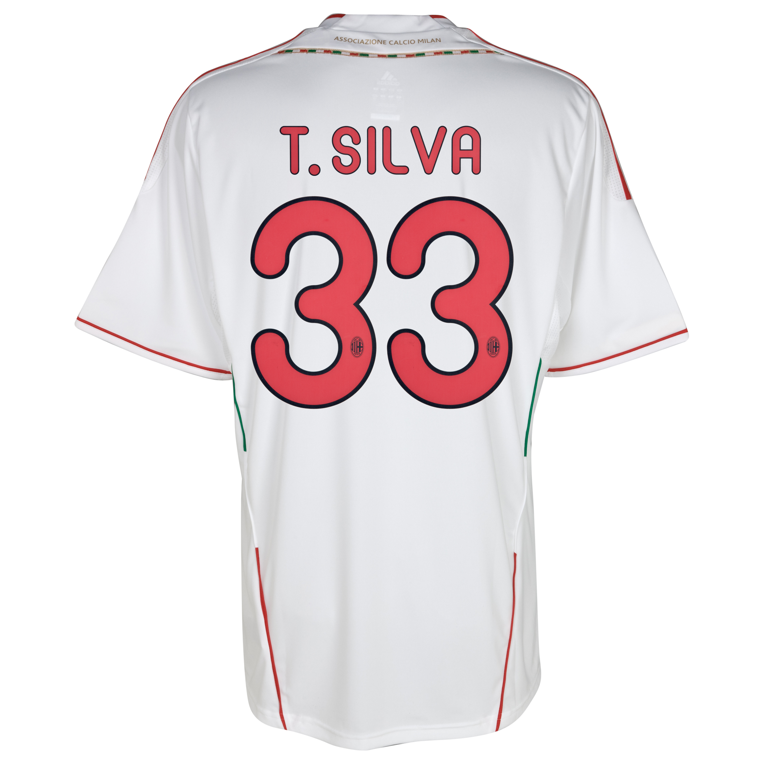 AC Milan Away Shirt 2011/12 with T.Silva 33 printing