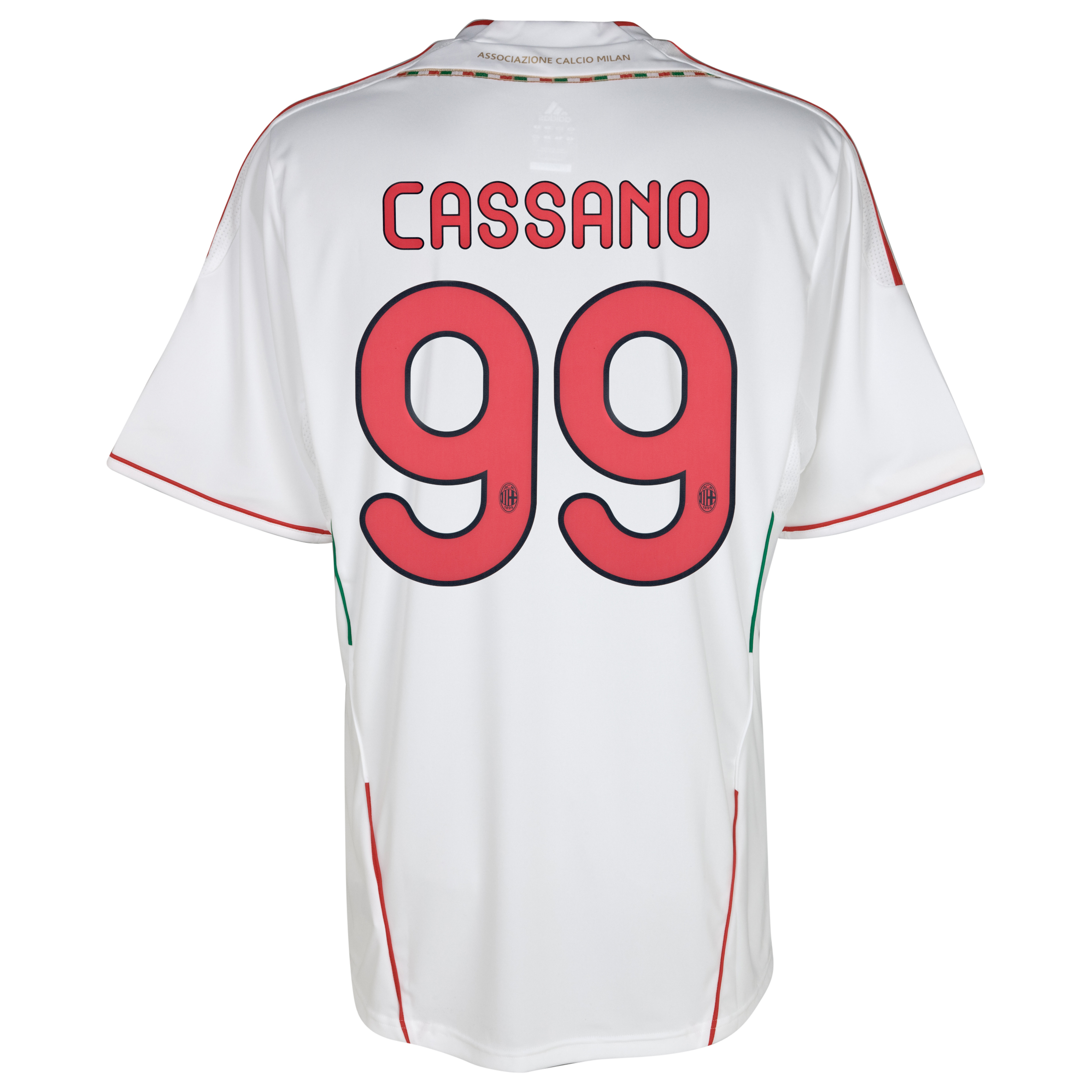 AC Milan Away Shirt 2011/12 with Cassano 99 printing