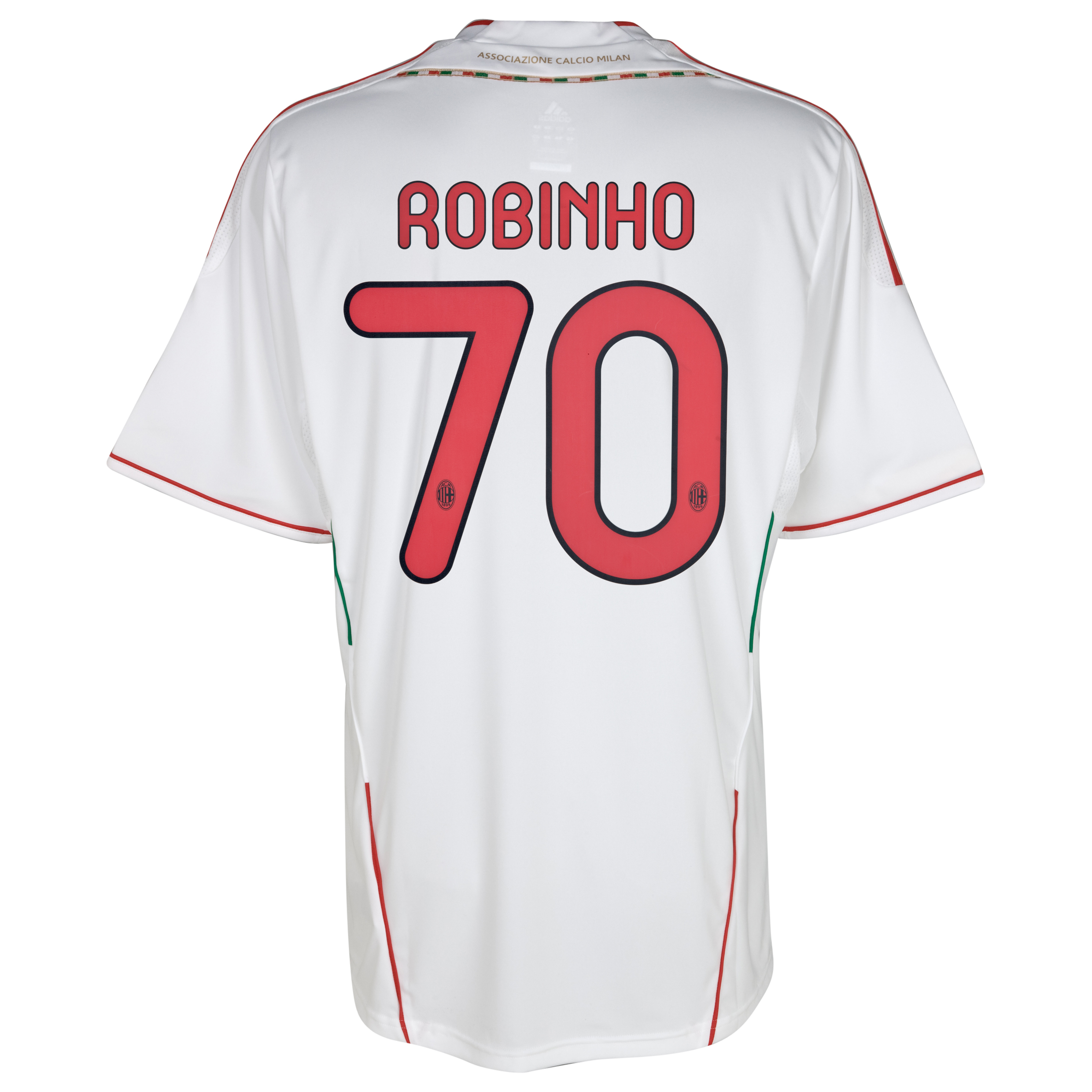 AC Milan Away Shirt 2011/12 - Kids with Robinho 70 printing