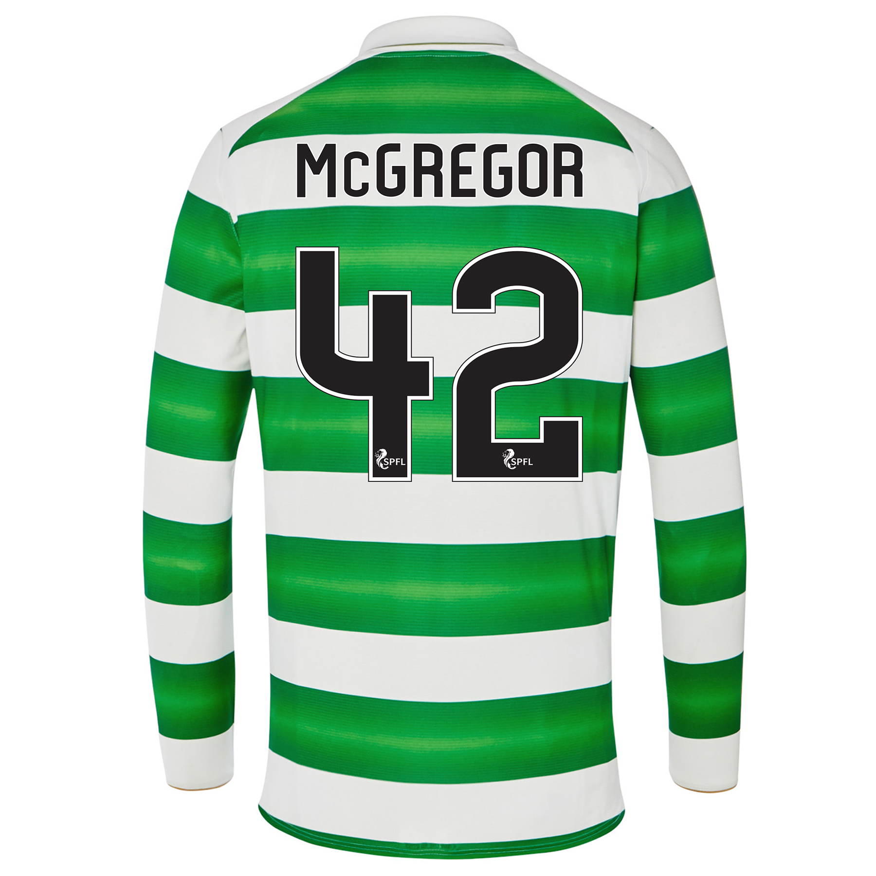 Celtic Home Kids Shirt 2016-17 - Long Sleeve with McGregor 42 printing