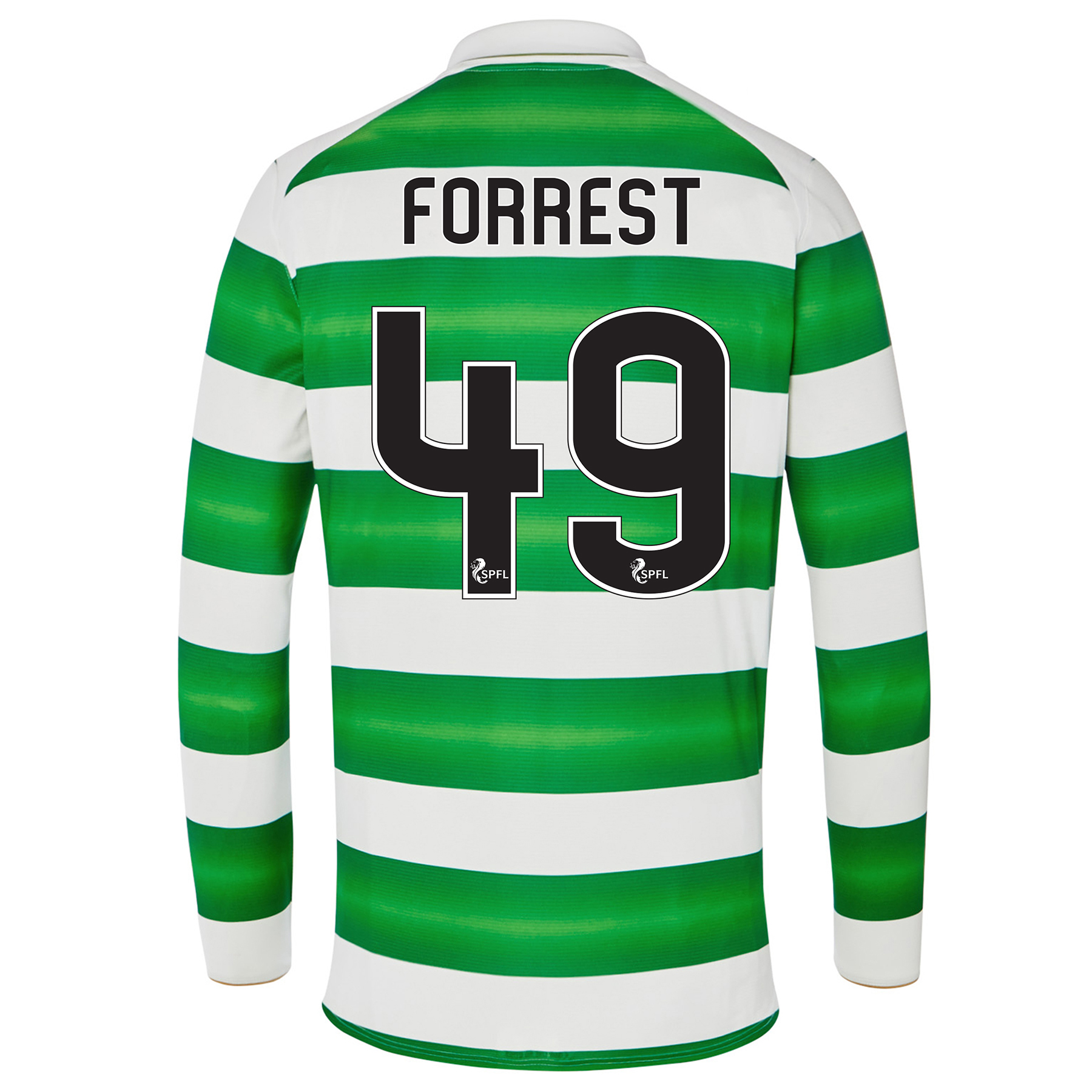 Celtic Home Kids Shirt 2016-17 - Long Sleeve with Forrest 49 printing