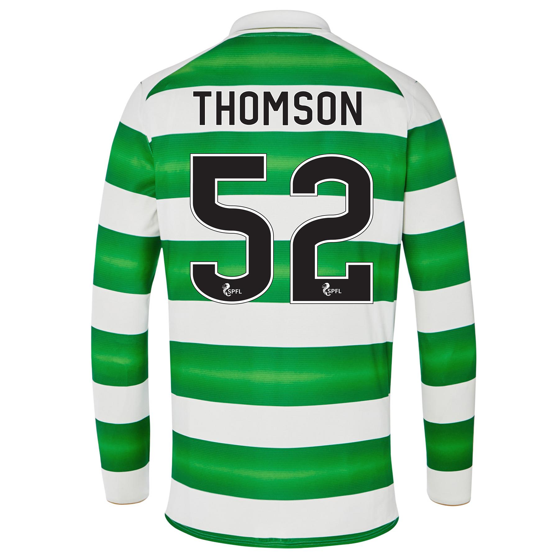 Celtic Home Kids Shirt 2016-17 - Long Sleeve with Thomson 52 printing