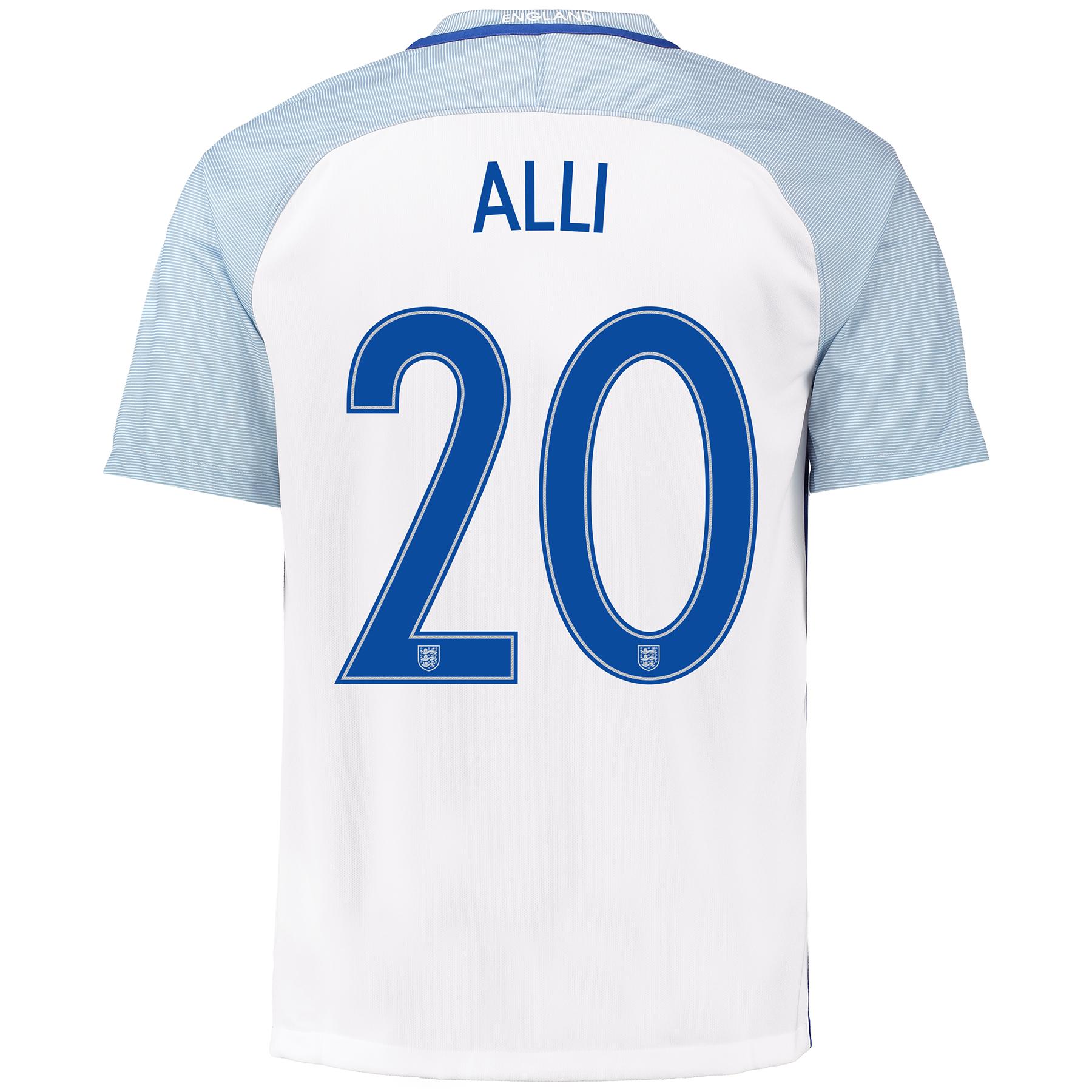 England Home Shirt 2016 with Alli 20 printing