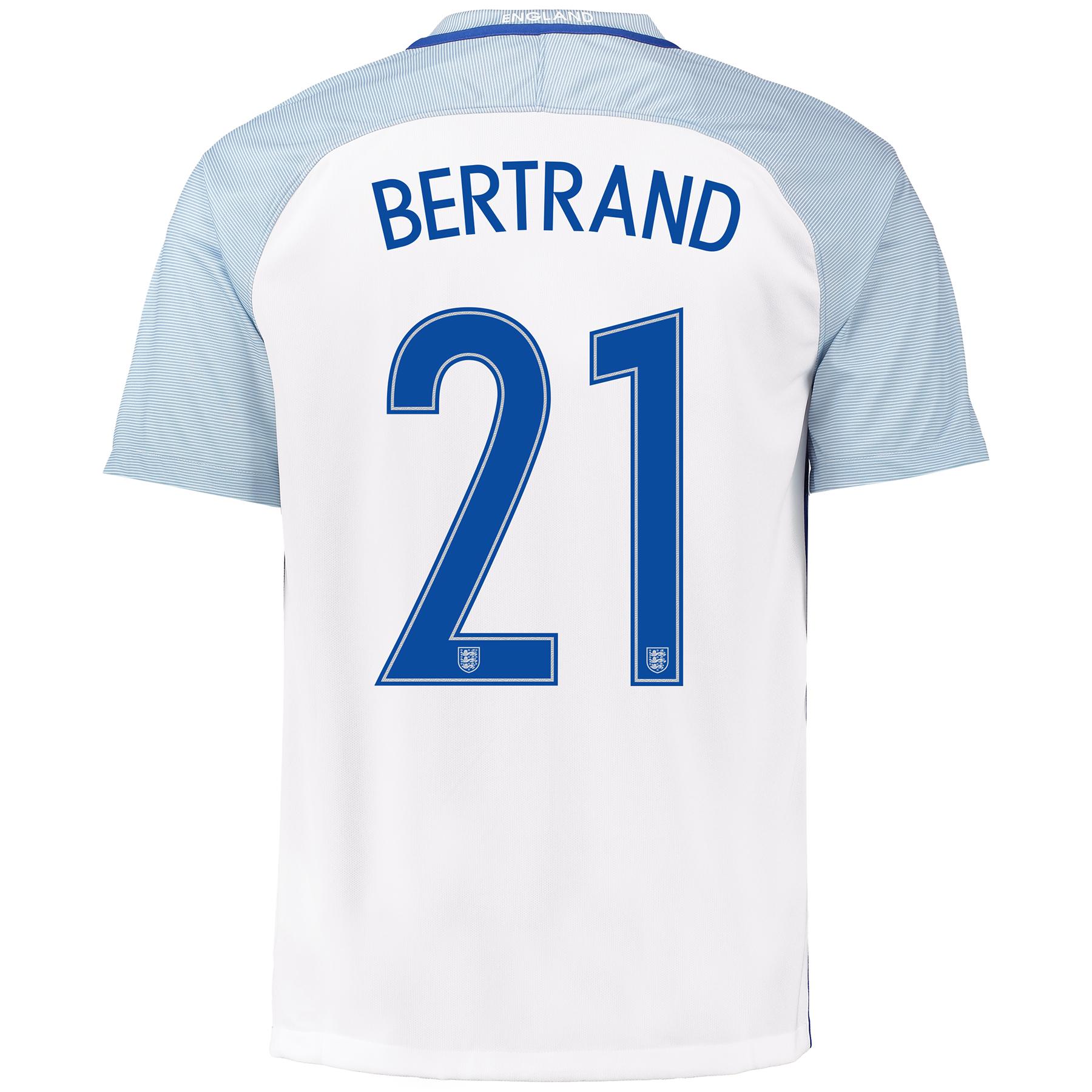 England Home Shirt 2016 with Bertrand 21 printing