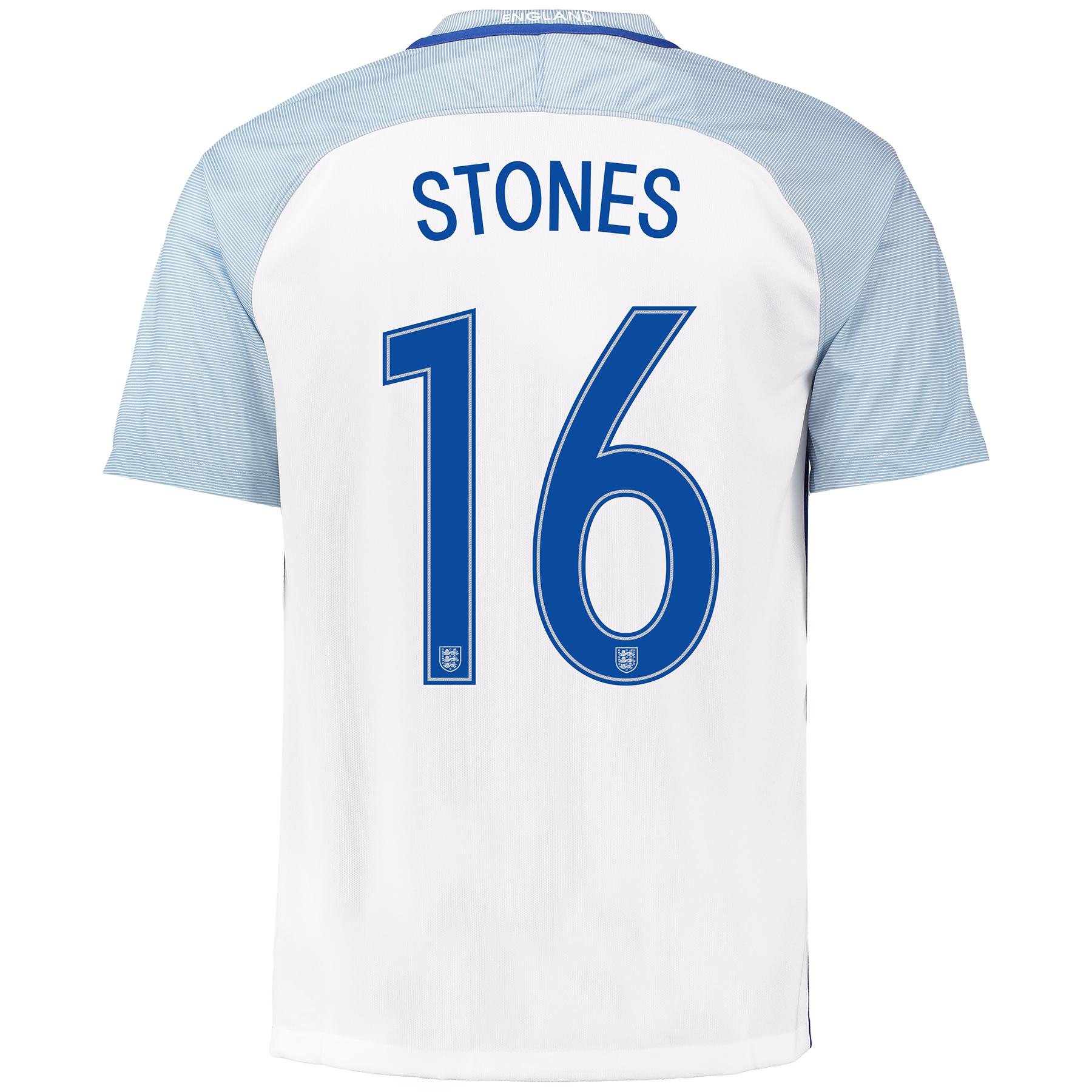 England Home Shirt 2016 with Stones 16 printing