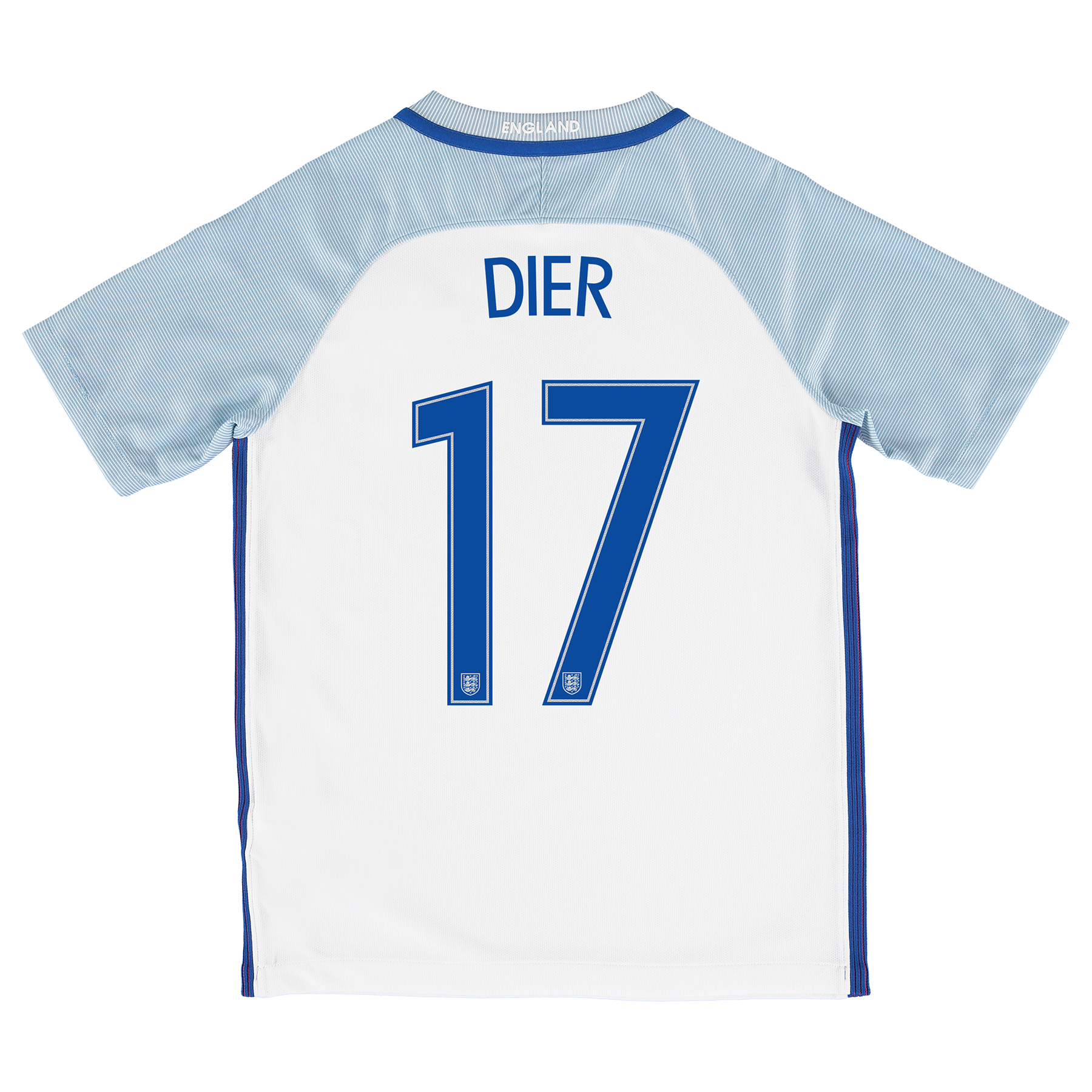 England Home Shirt 2016 - Kids with Dier 17 printing