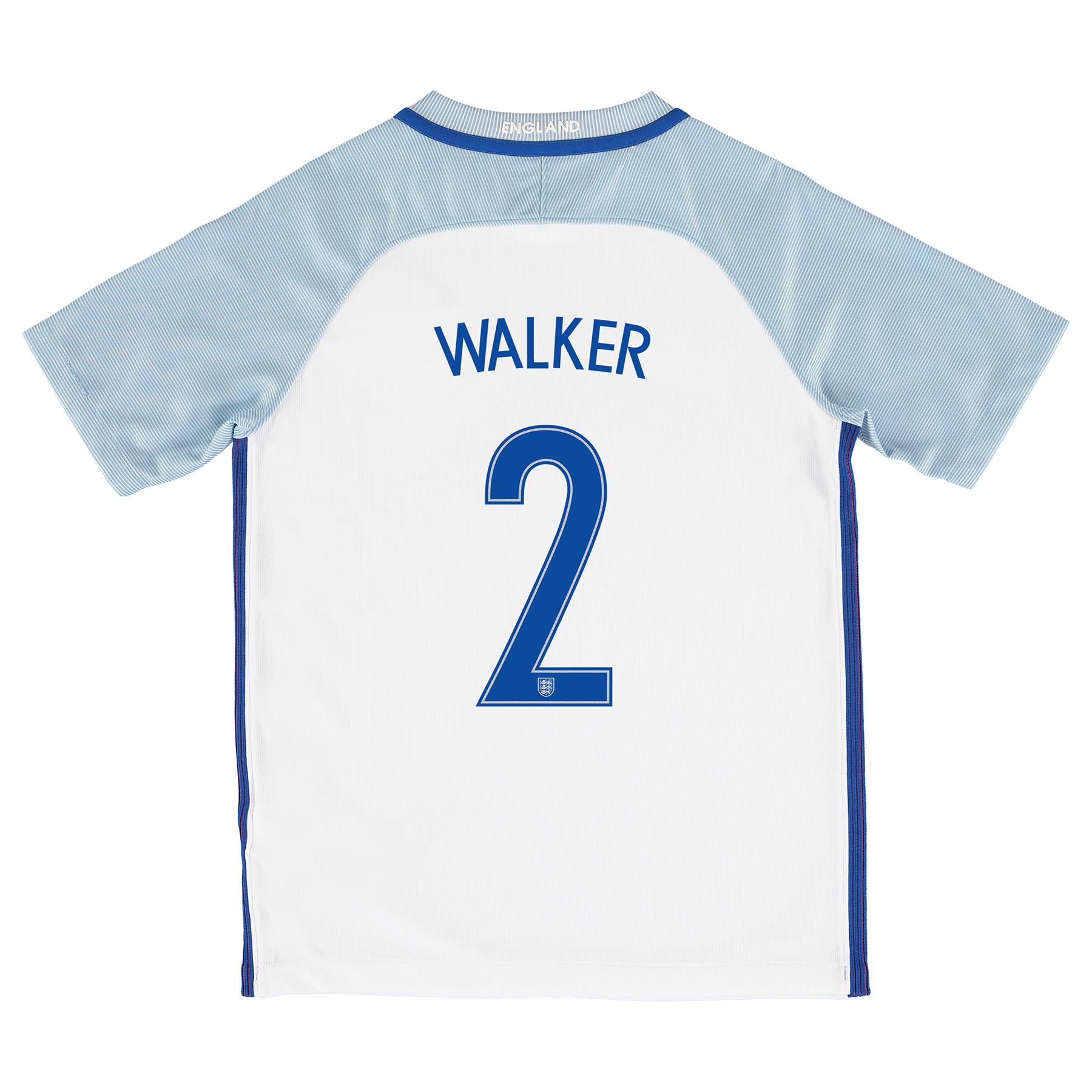 England Home Shirt 2016 - Kids with Walker 2 printing