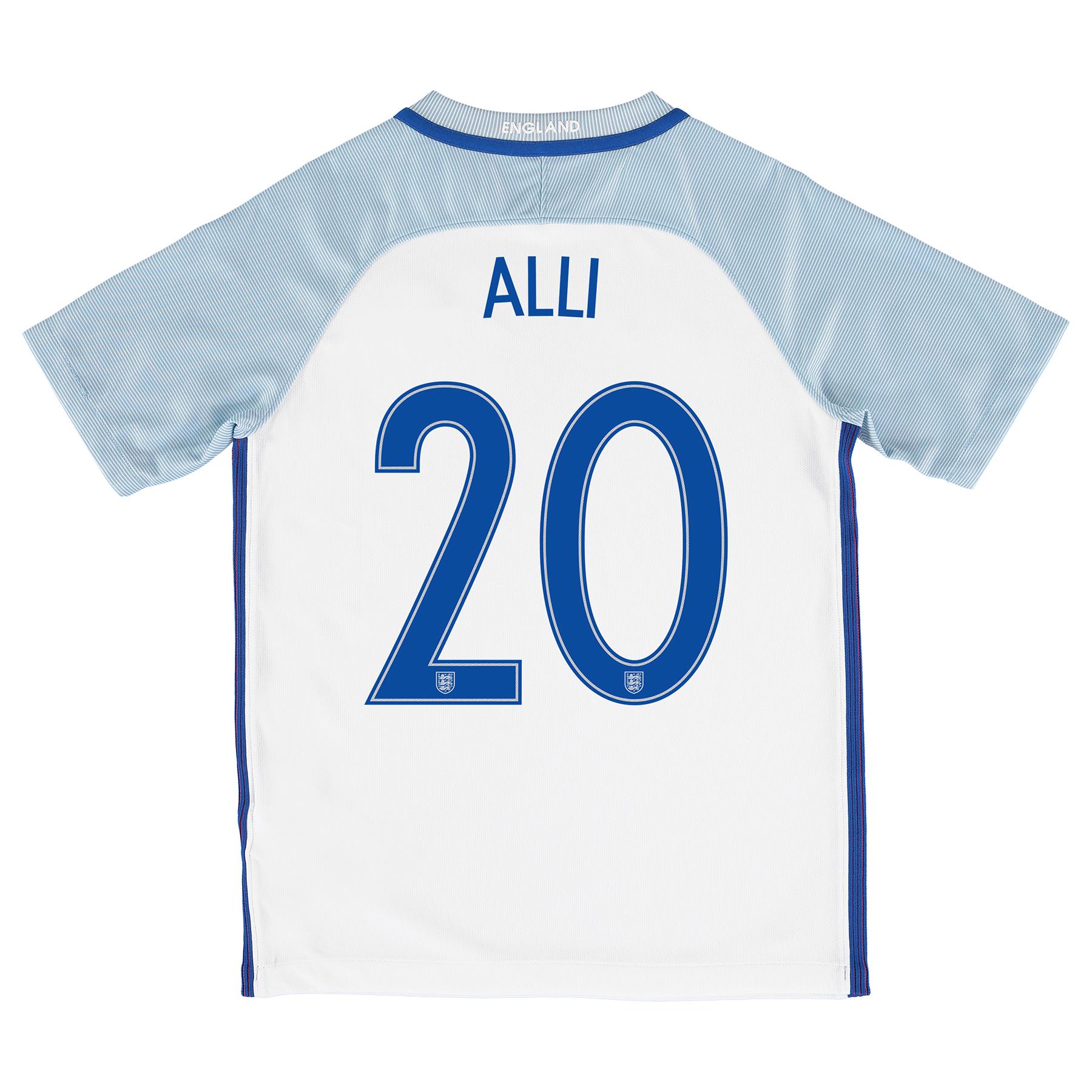 England Home Shirt 2016 - Kids with Alli 20 printing