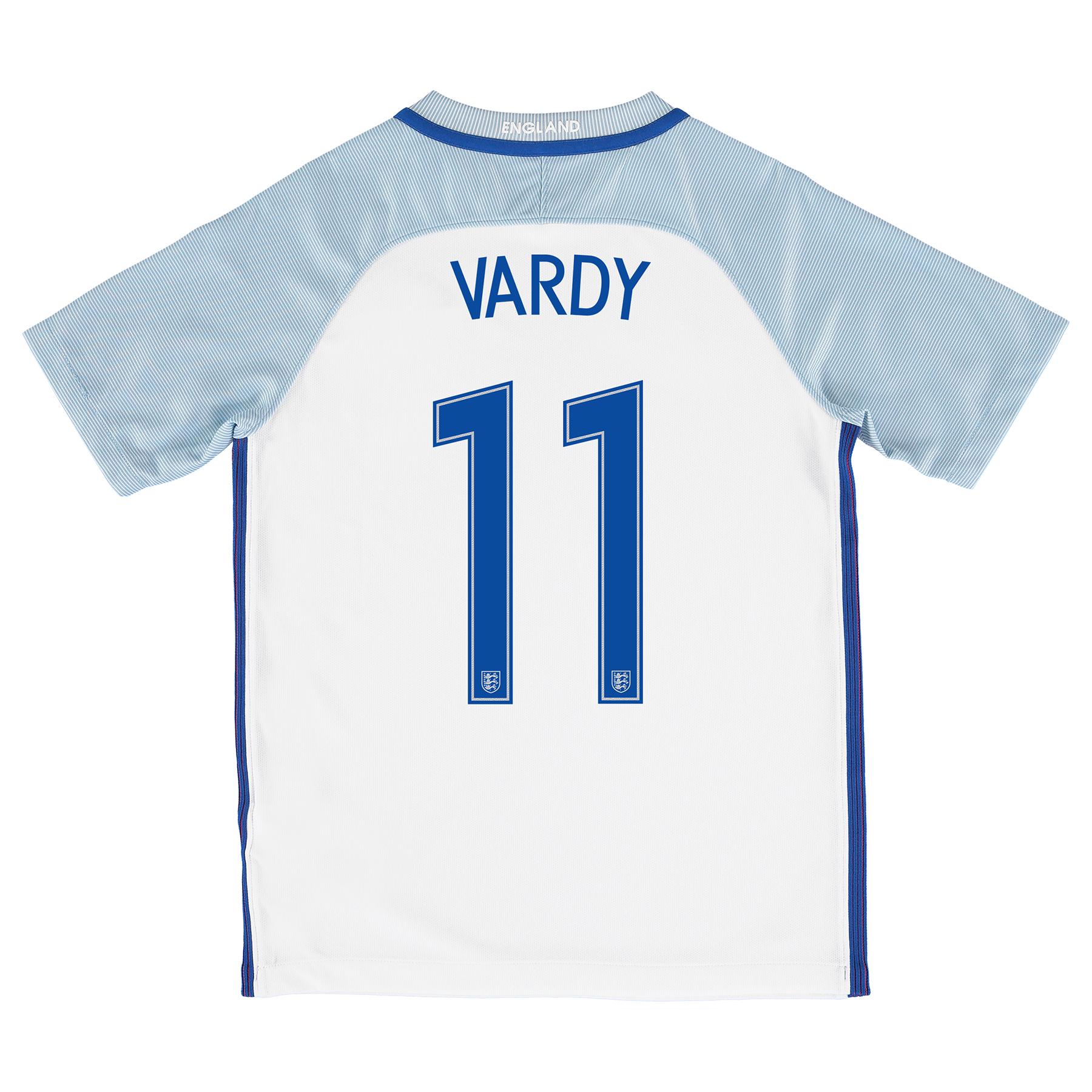 England Home Shirt 2016 - Kids with Vardy 11 printing