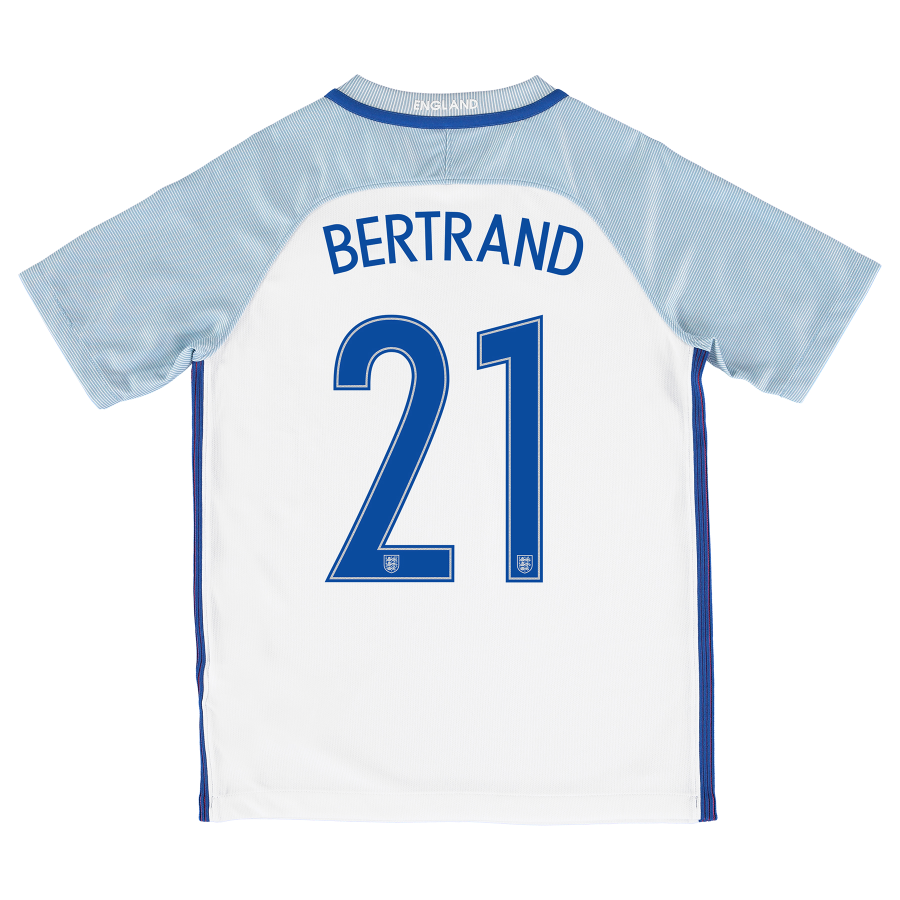 England Home Shirt 2016 - Kids with Bertrand 21 printing