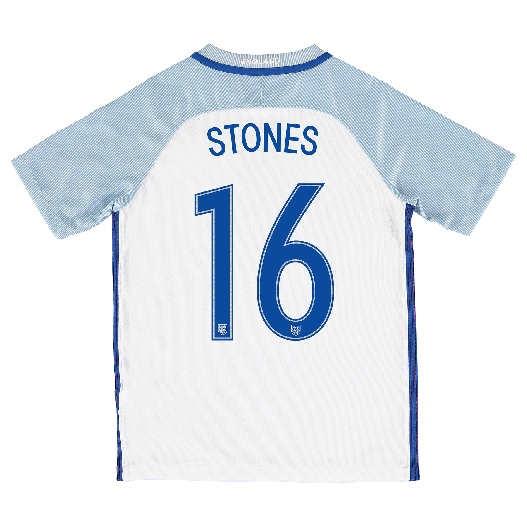 England Home Shirt 2016 - Kids with Stones 16 printing
