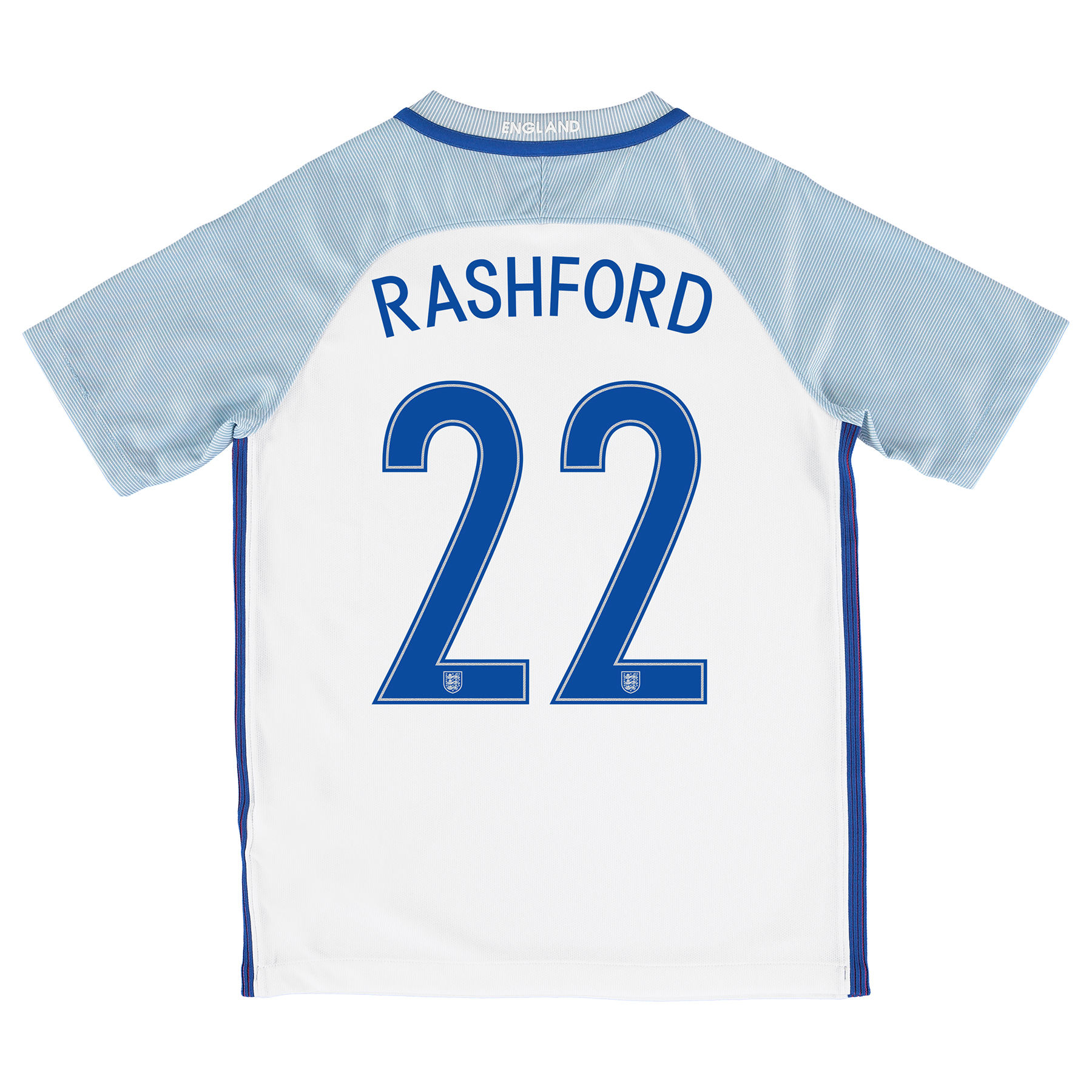 England Home Shirt 2016 - Kids with Rashford 22 printing