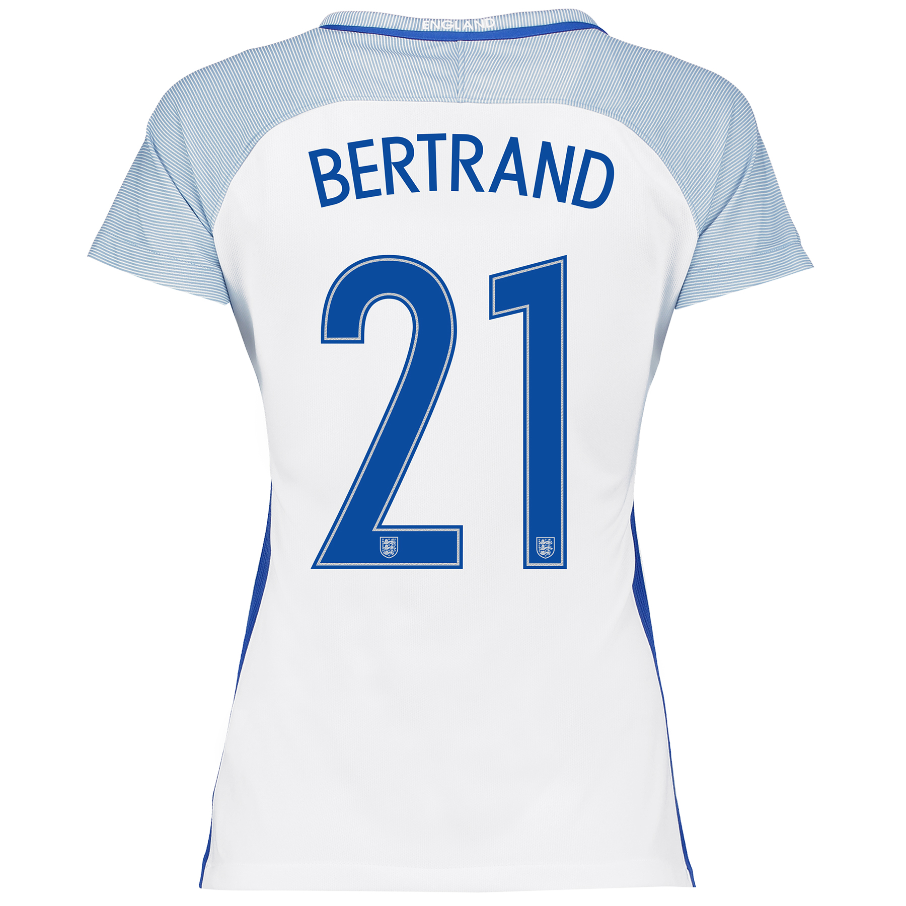 England Home Shirt 2016 - Womens with Bertrand 21 printing