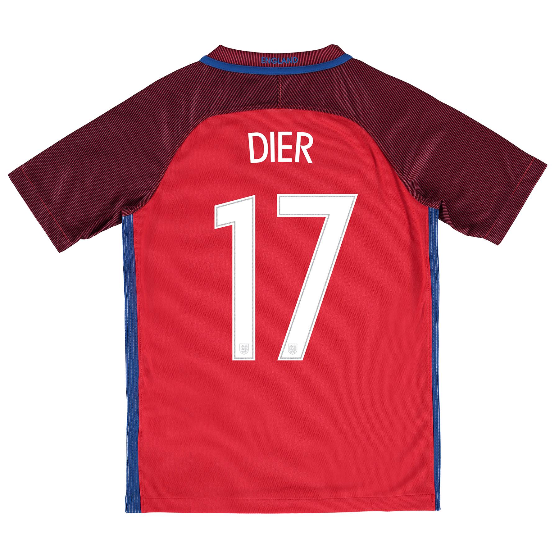England Away Shirt 2016 - Kids with Dier 17 printing