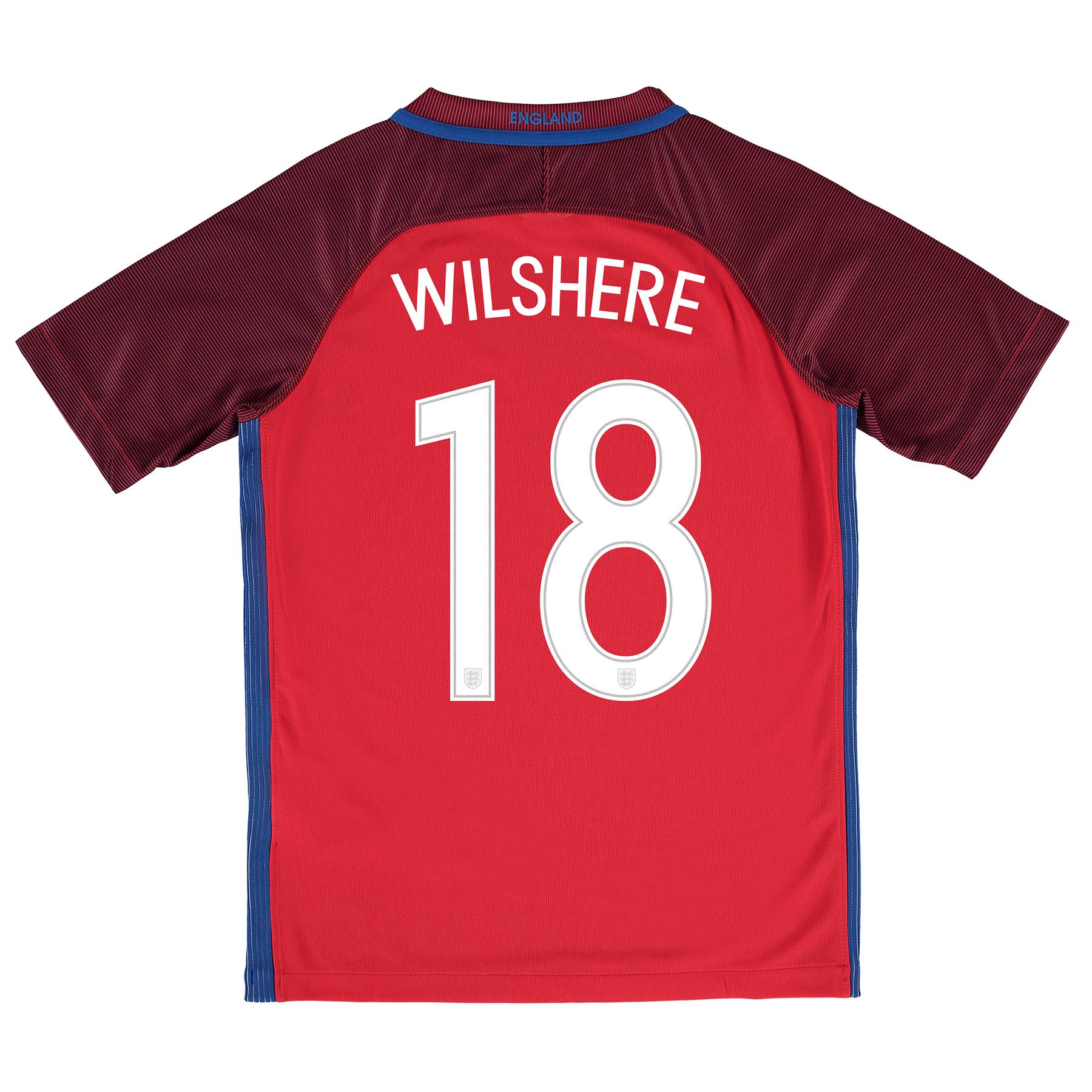 England Away Shirt 2016 - Kids with Wilshere 18 printing