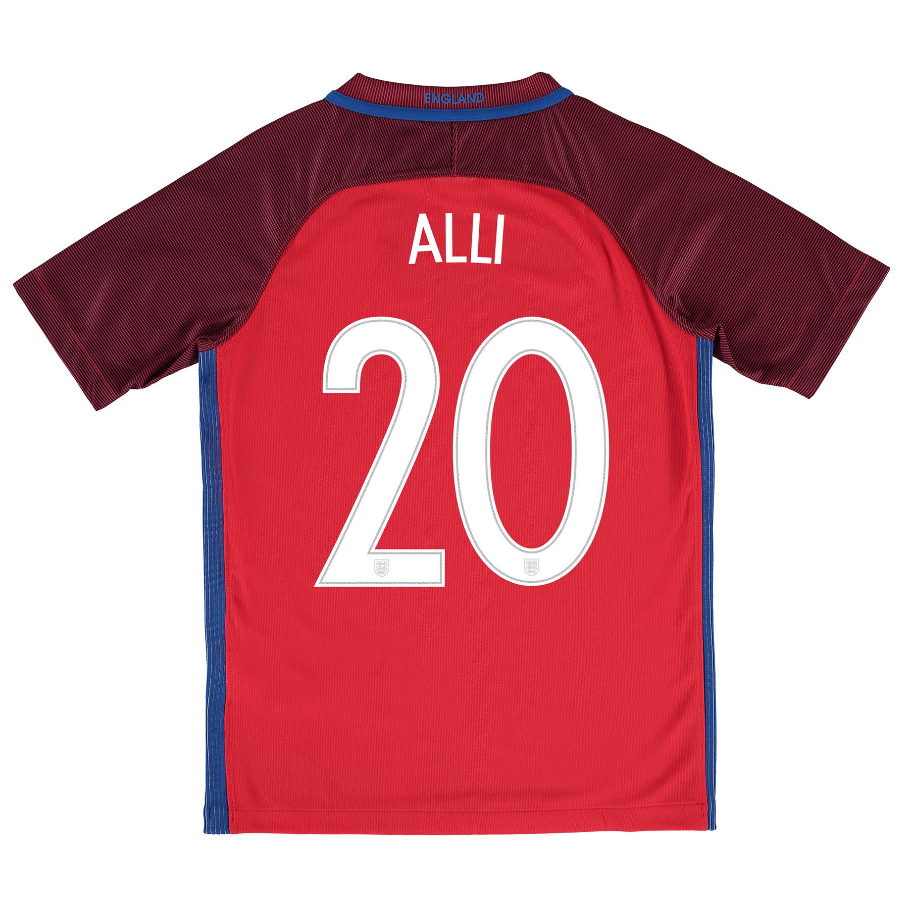 England Away Shirt 2016 - Kids with Alli 20 printing