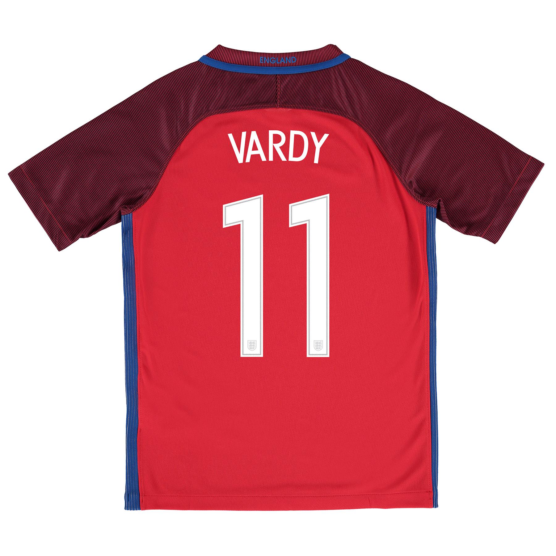 England Away Shirt 2016 - Kids with Vardy 11 printing
