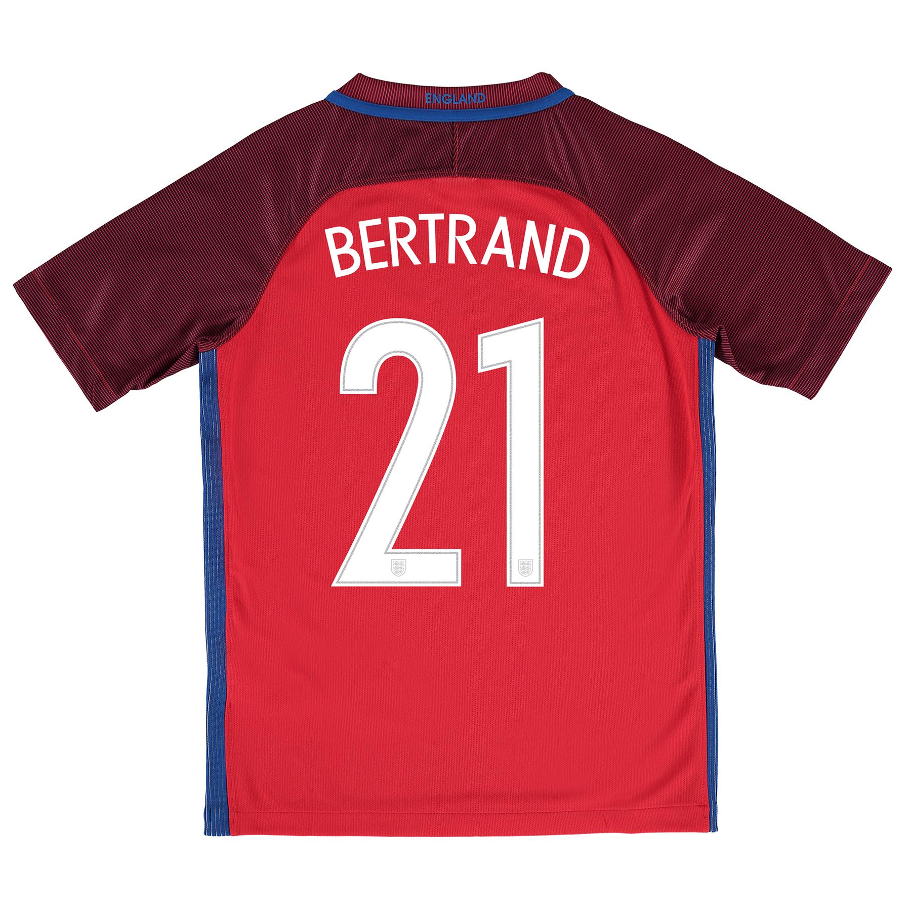 England Away Shirt 2016 - Kids with Bertrand 21 printing