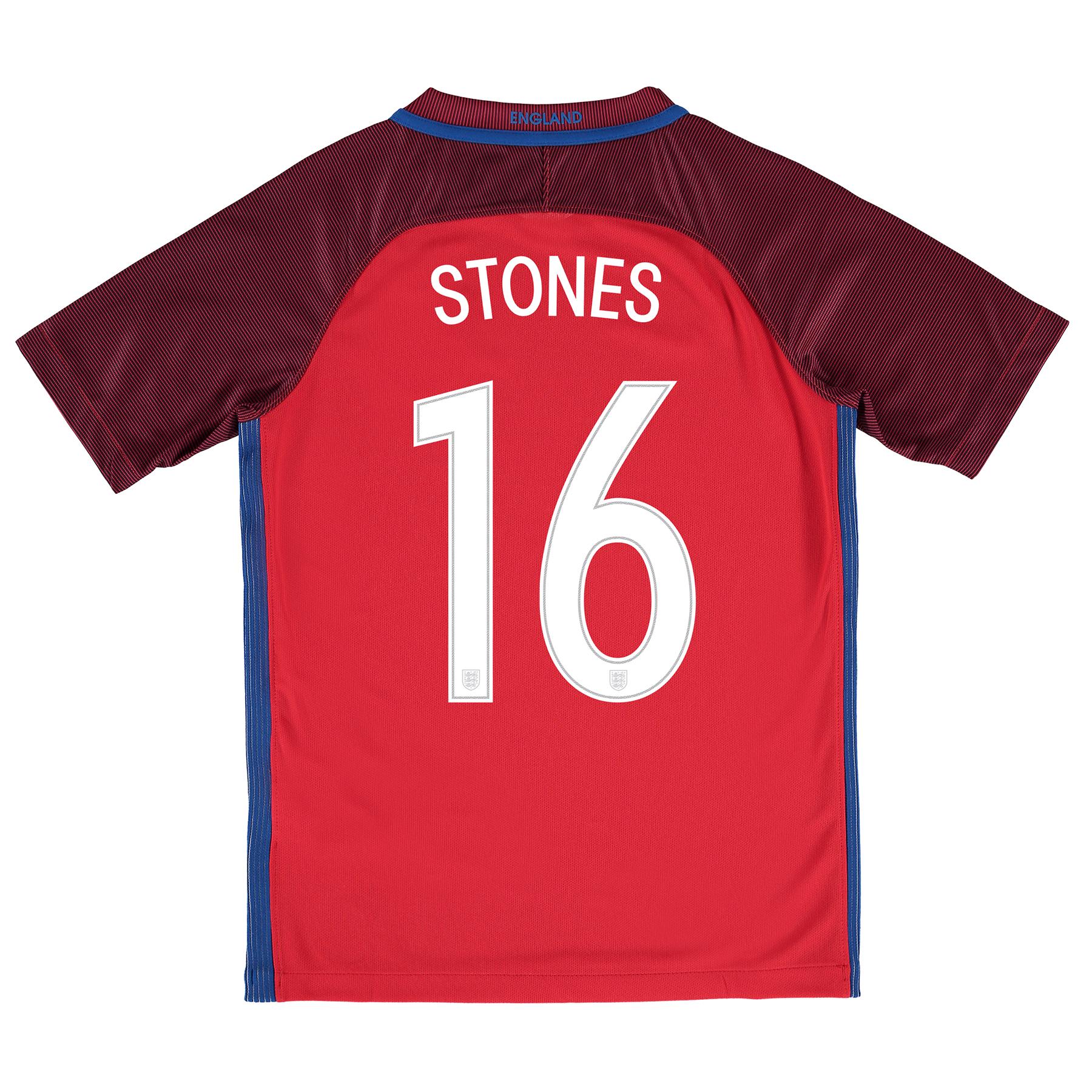 England Away Shirt 2016 - Kids with Stones 16 printing