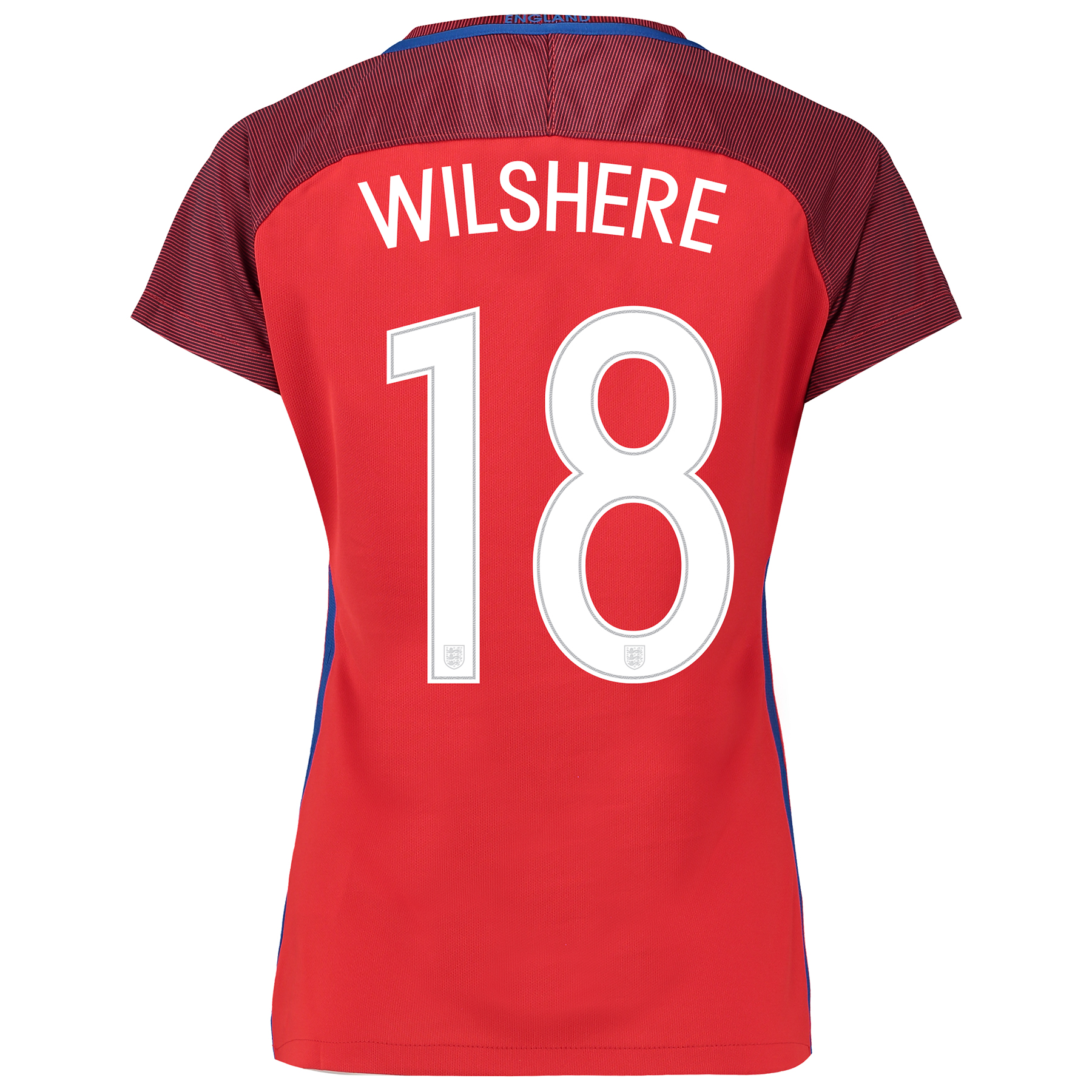 England Away Shirt 2016 - Womens with Wilshere 18 printing