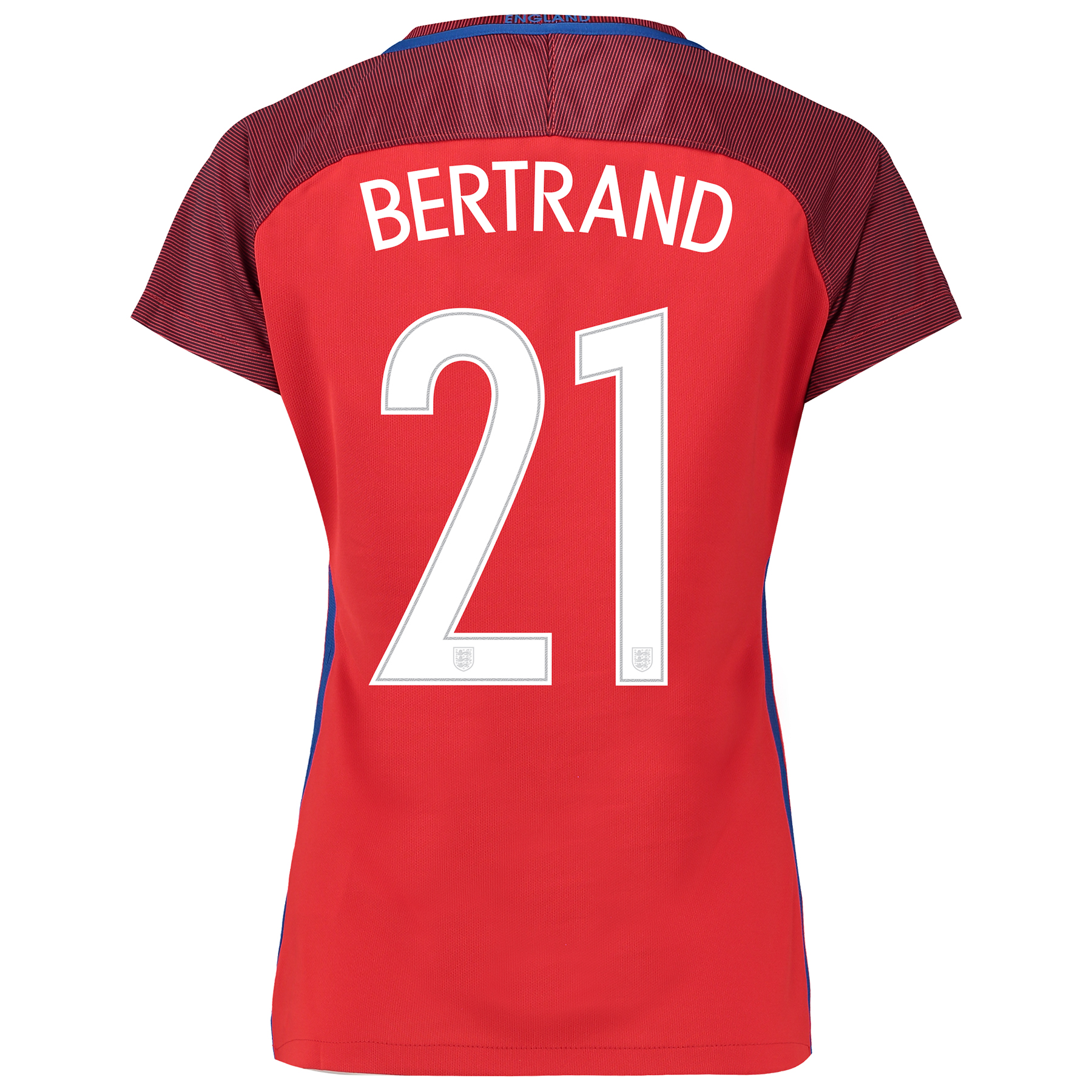 England Away Shirt 2016 - Womens with Bertrand 21 printing