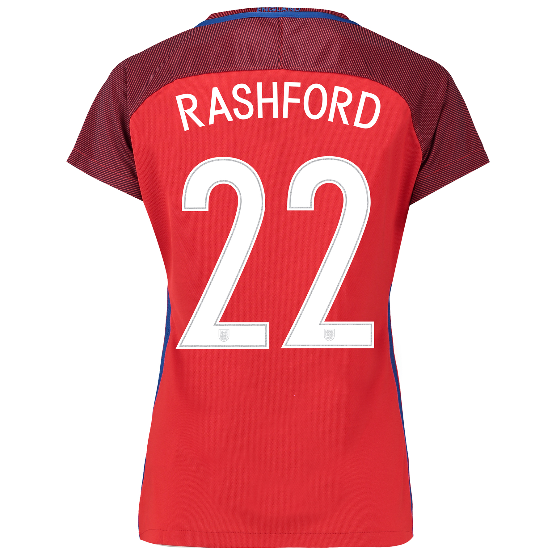 England Away Shirt 2016 - Womens with Rashford 22 printing