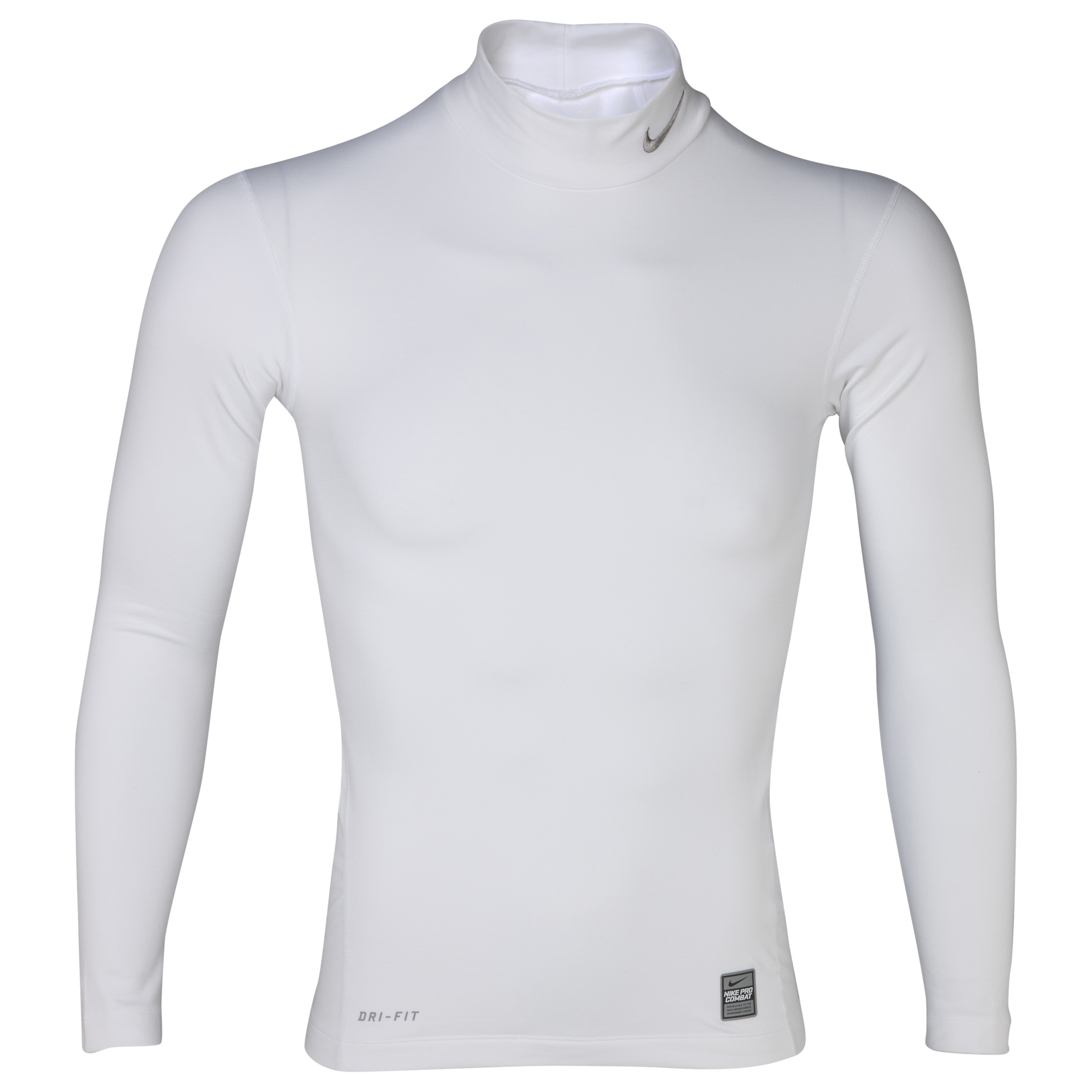 Nike Hyperwarm Compression Mock - White/Medium Grey