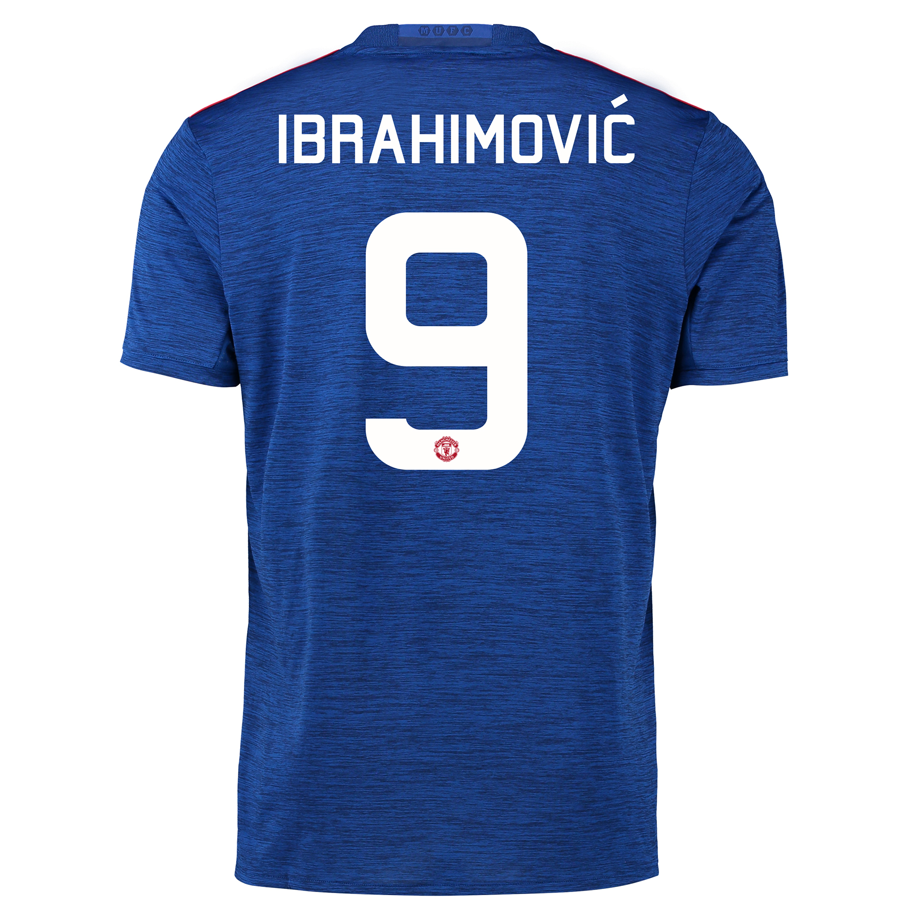 Manchester United Away Cup Shirt 2016-17 with Ibrahimovic 9 printing, Blue