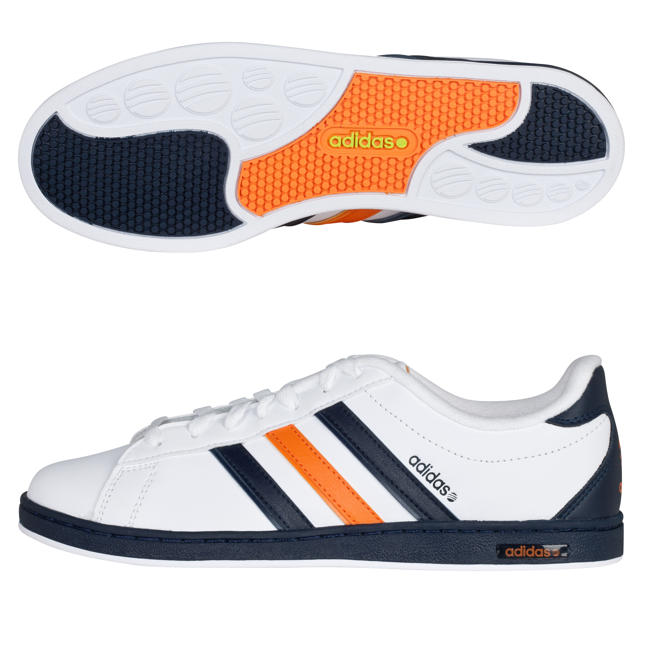 Adidas Derby Trainers - White Ftw / Dark Indigo / Super Orange S12