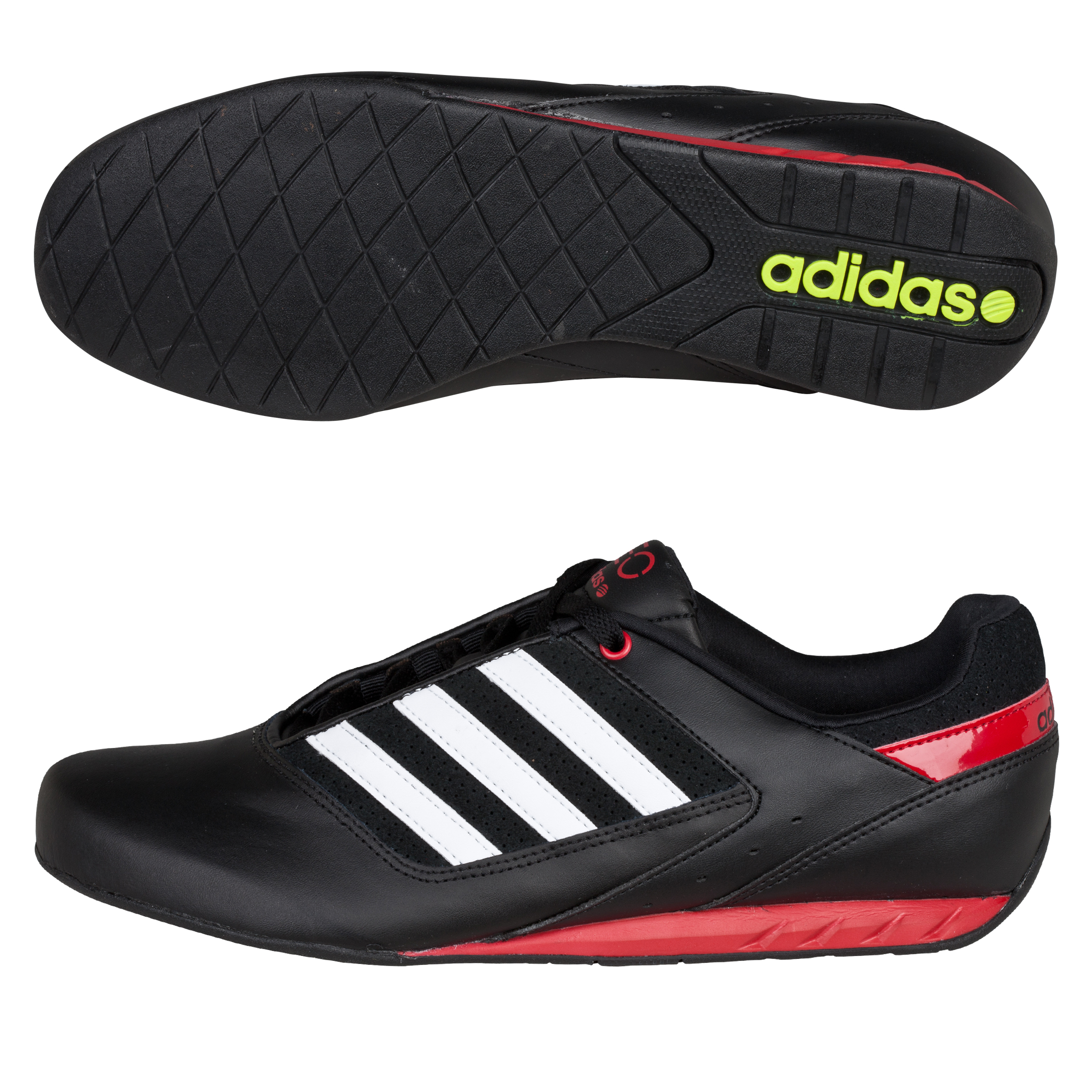 adidas Ralley Lo Trainers - Black 1 / Running White Ftw / University Red