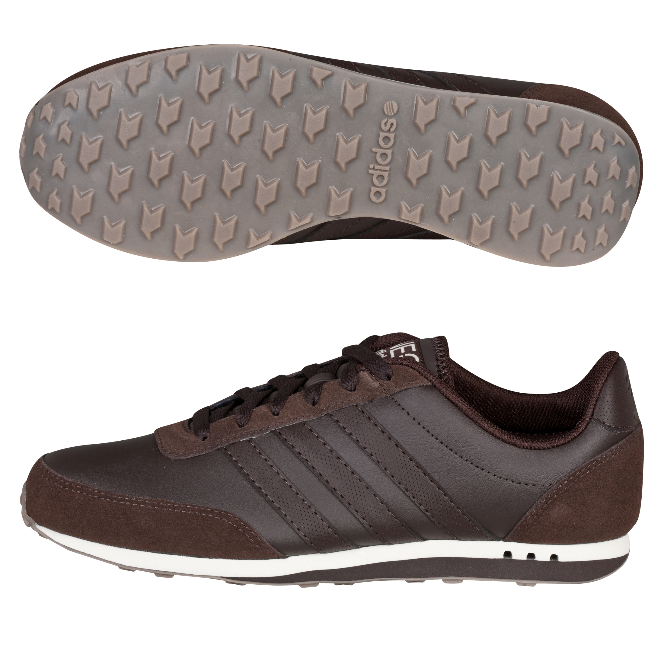 Adidas V Racer Leather Trainers - Mustang Brown / Chalk 2 / Gum5