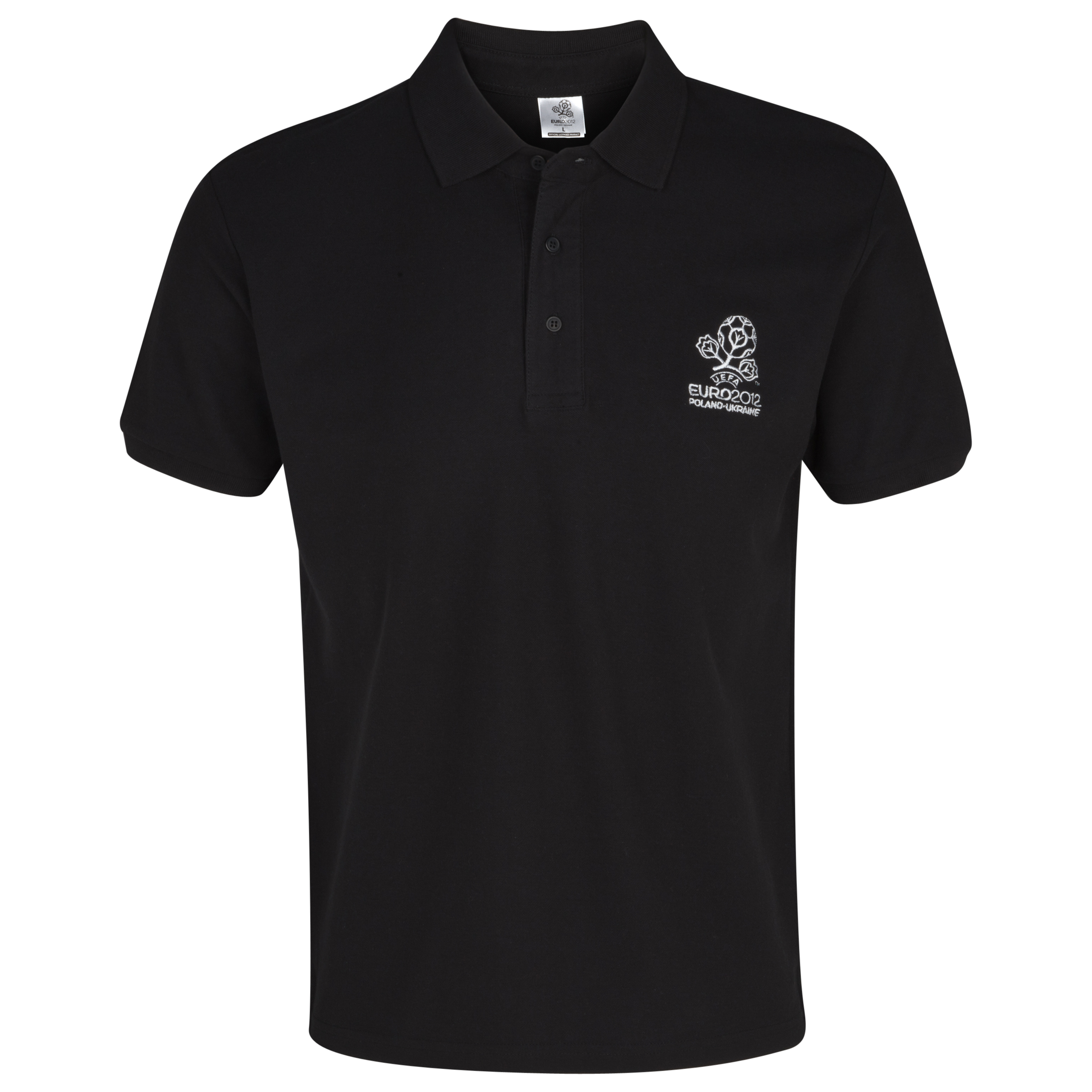 Euro 2012 Tonal Polo - Black/White