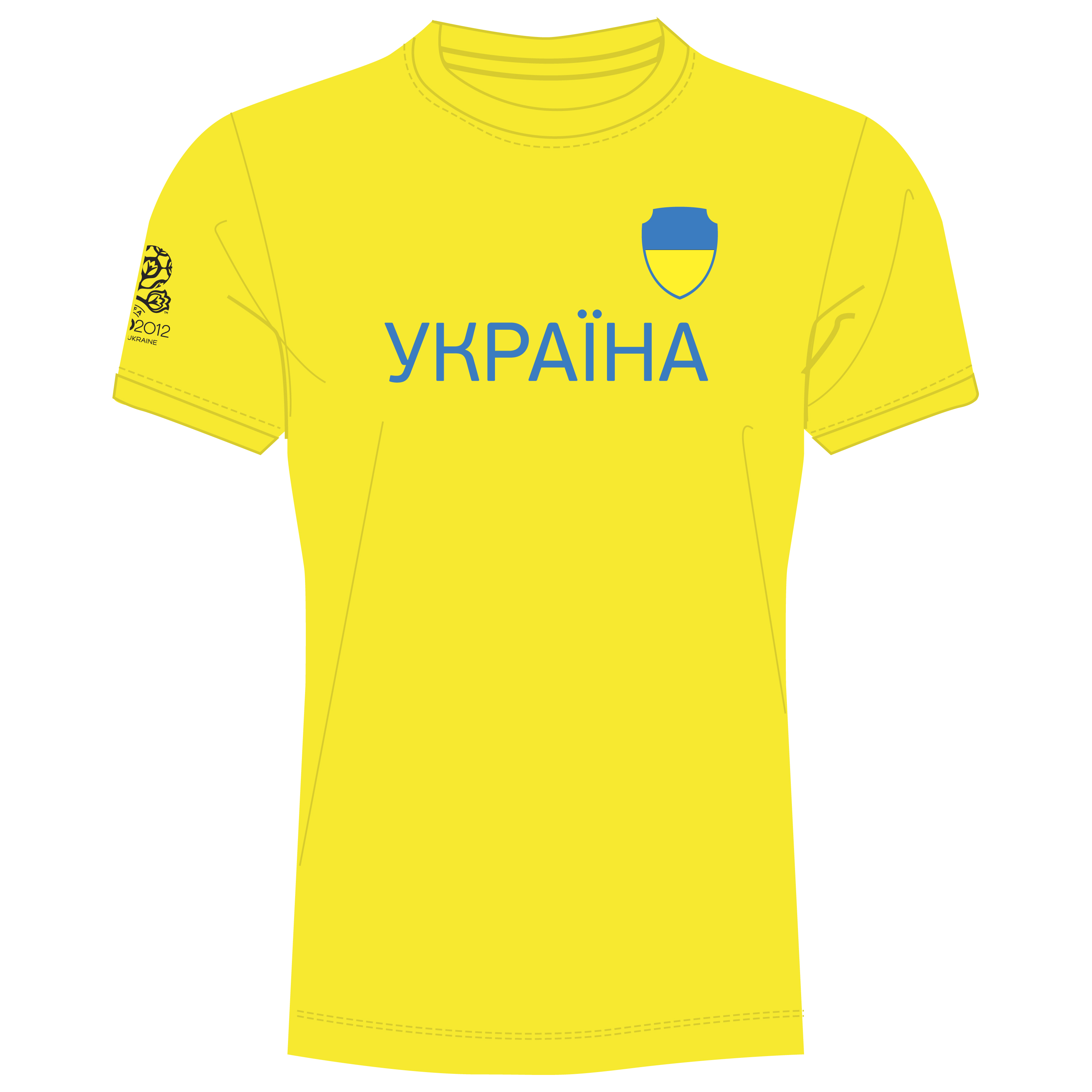 Euro 2012 Ukraine T-Shirt - Yellow/Blue