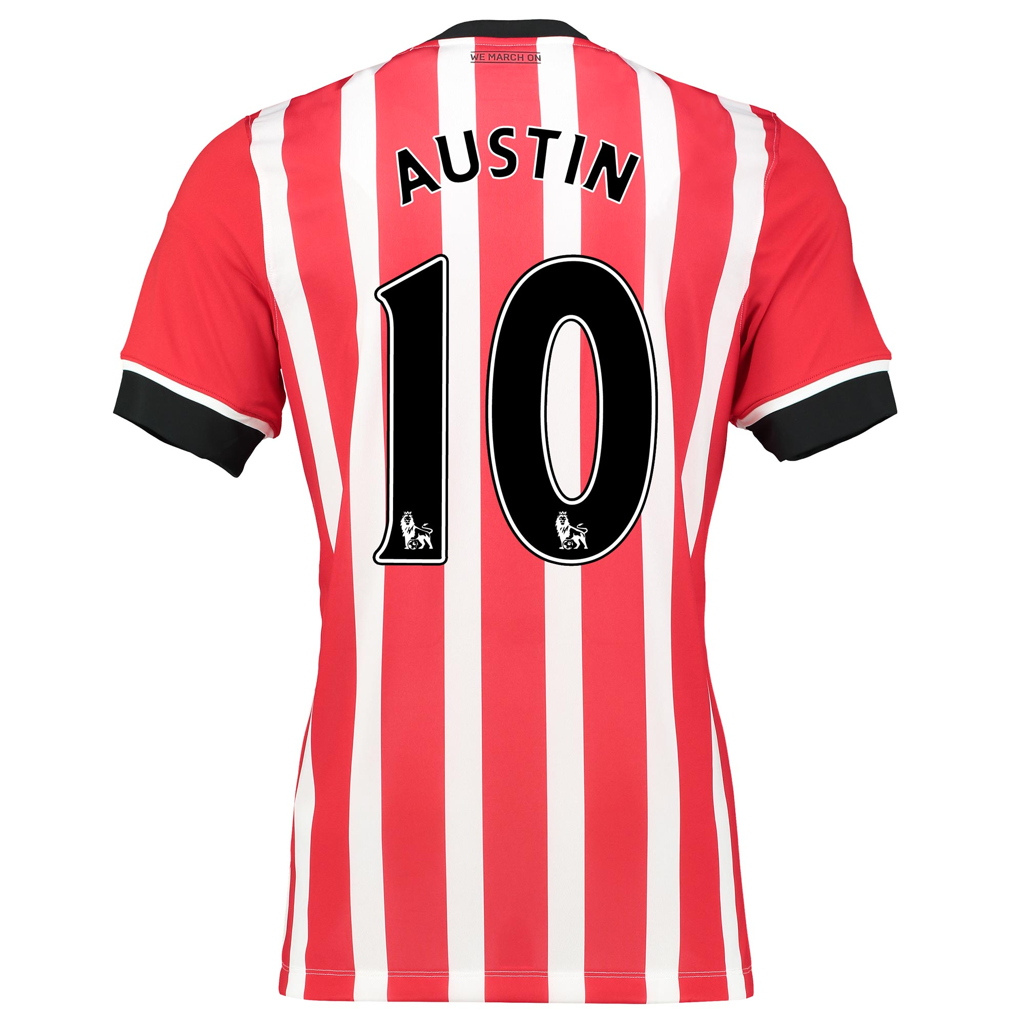 Image of Southampton Home Shirt 2016-17 Red with Charlie Austin 10 printing, Red