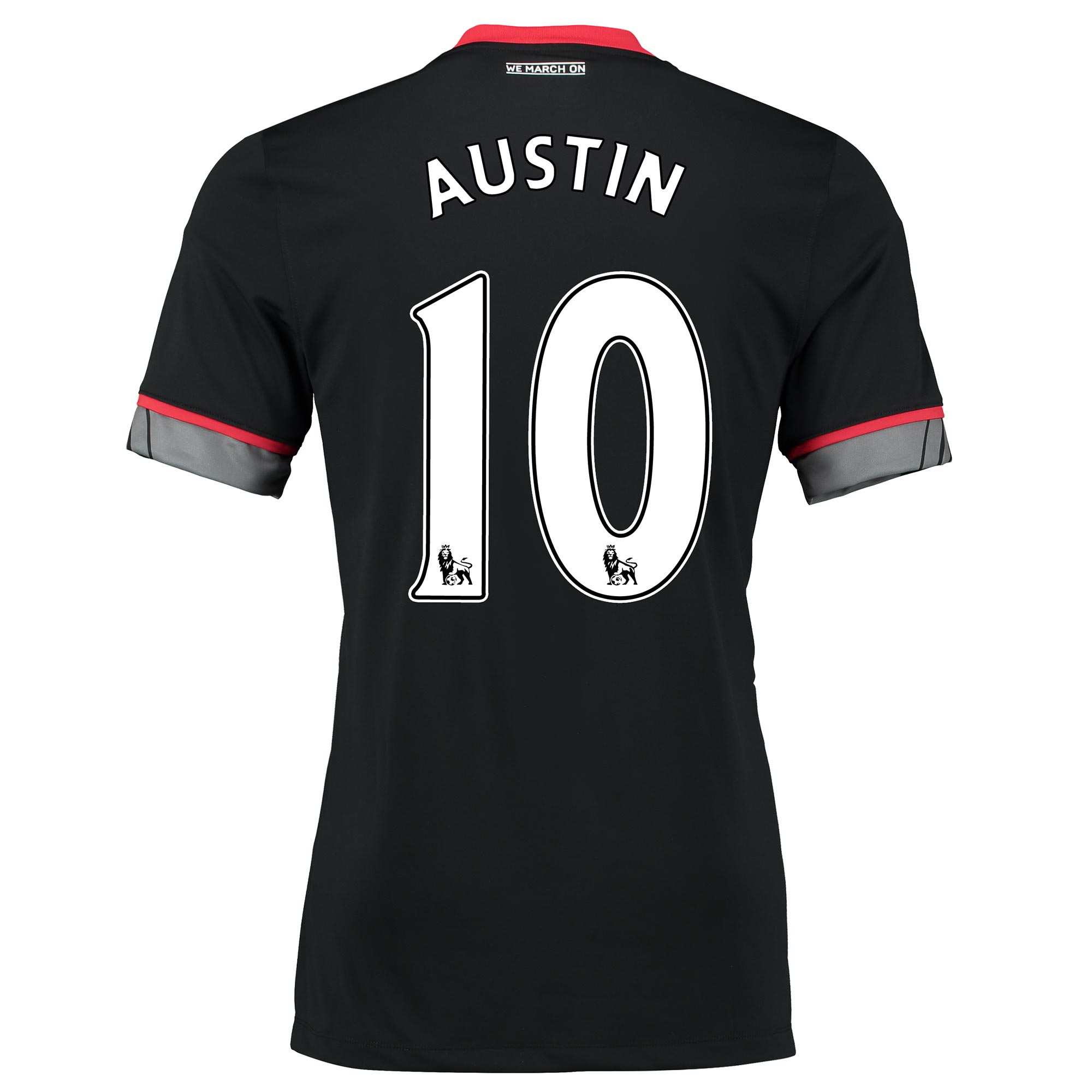 Image of Southampton Away Shirt 2016-17 Black with Charlie Austin 10 printing, Black