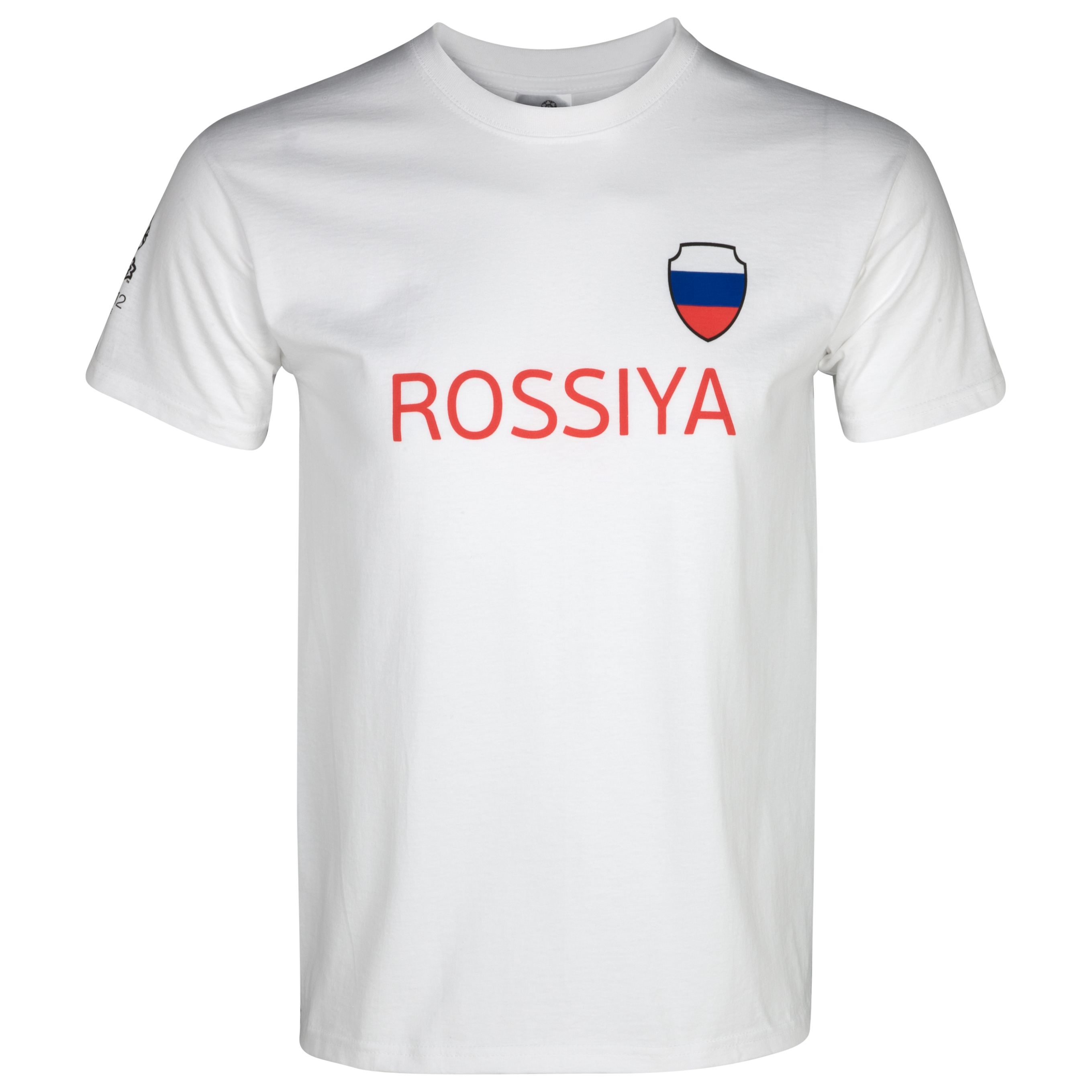 Euro 2012 Russia T-Shirt - White/Black/Red
