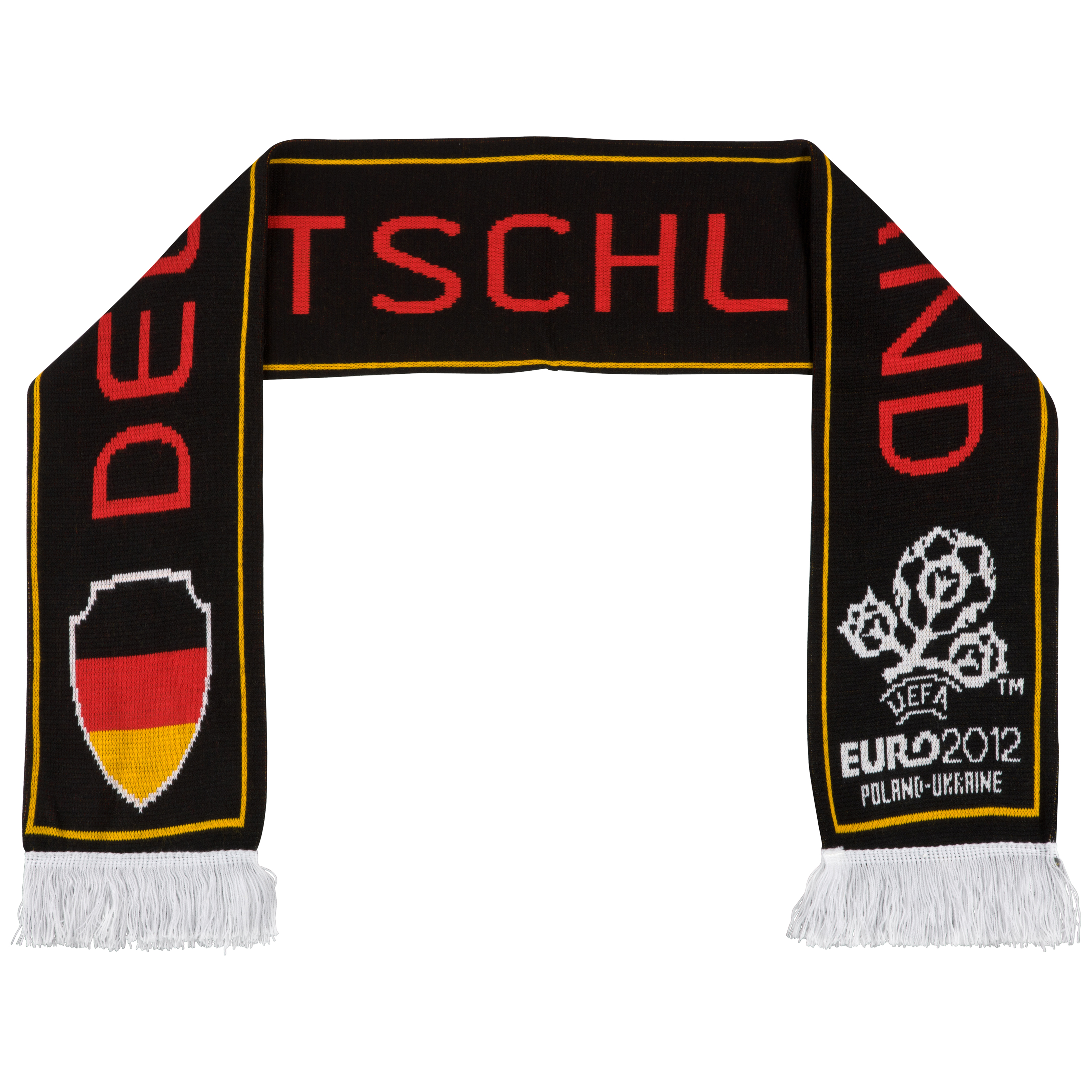 Euro 2012 Germany Jacquard Scarf - Black/White/Gold/Red
