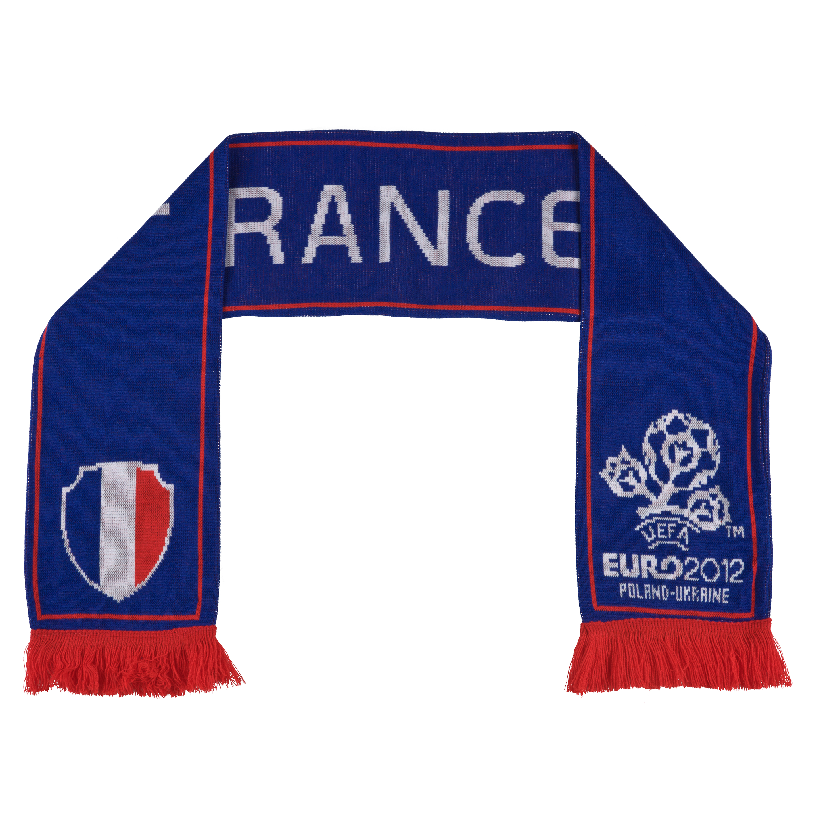 Euro 2012 France Jacquard Scarf - Blue/White/Red
