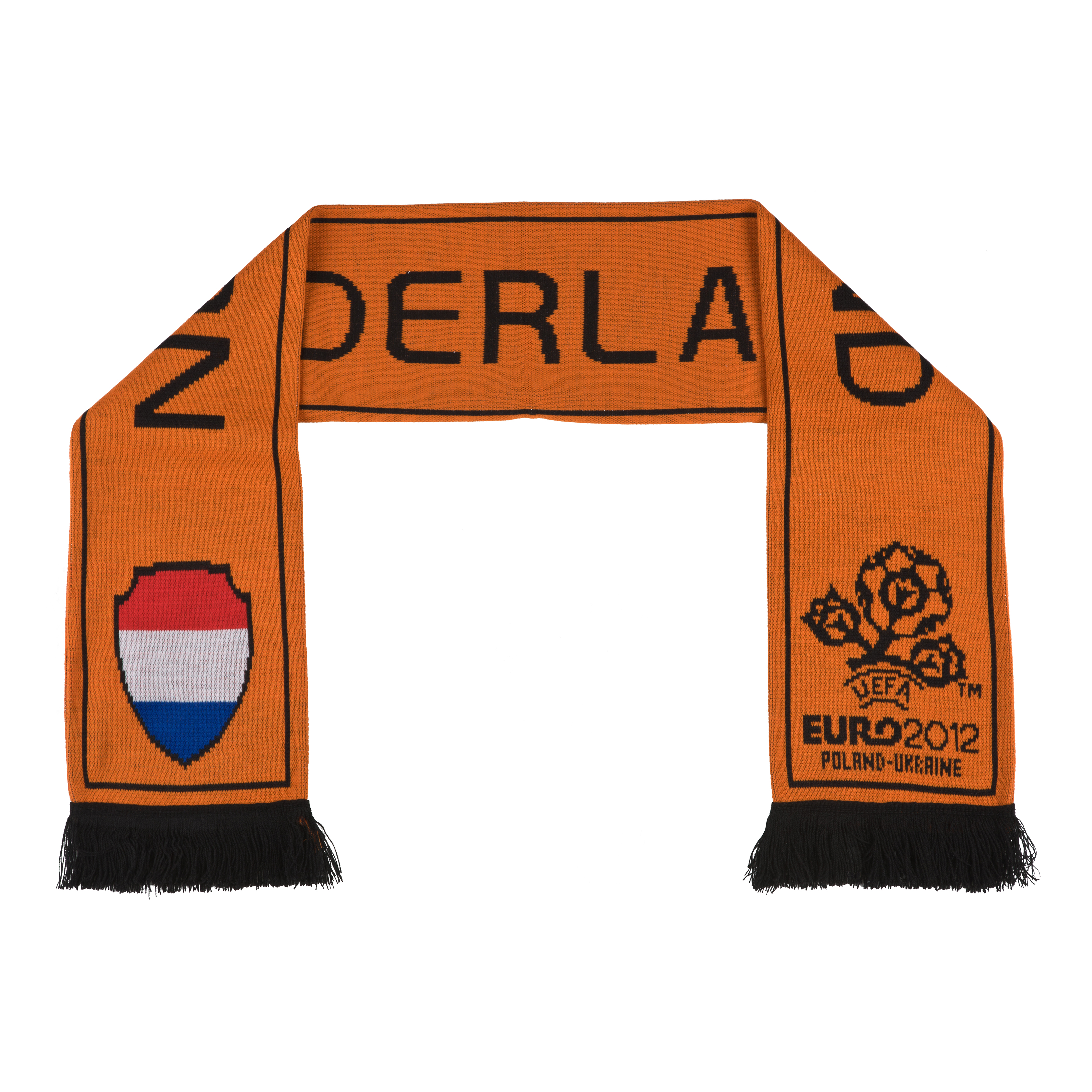 Holland Jacquard Scarf - Orange/Black