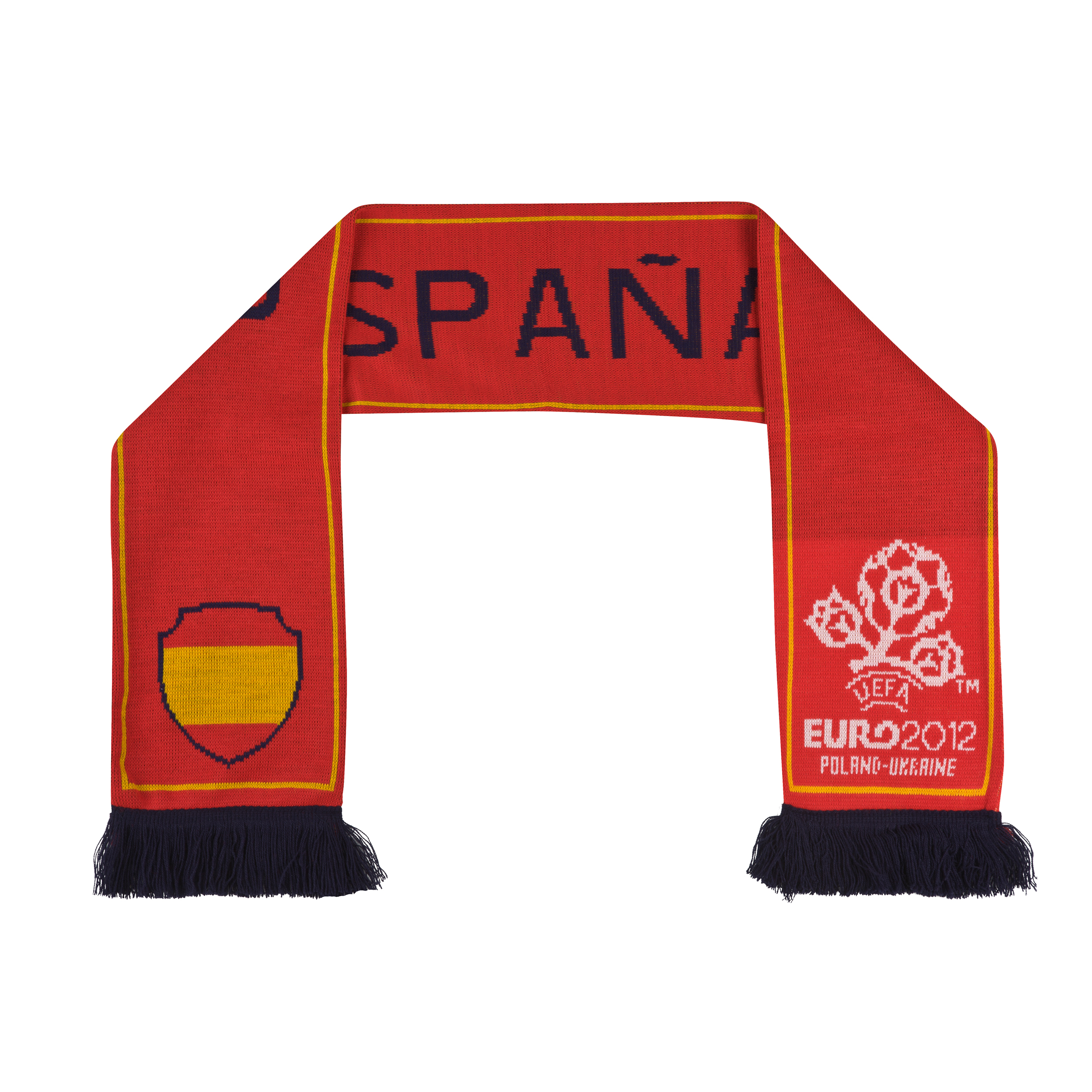 Euro 2012 Spain Jacquard Scarf - Red/Blue