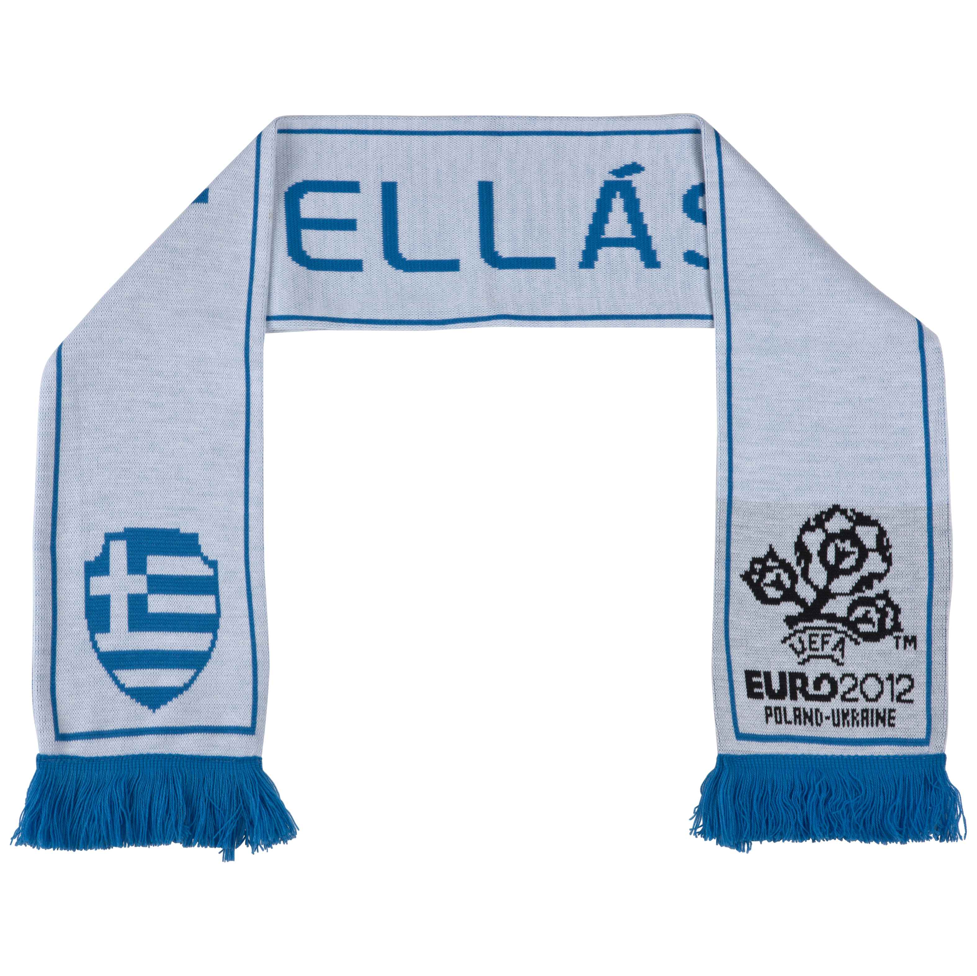 Greece Jacquard Scarf - White/Blue