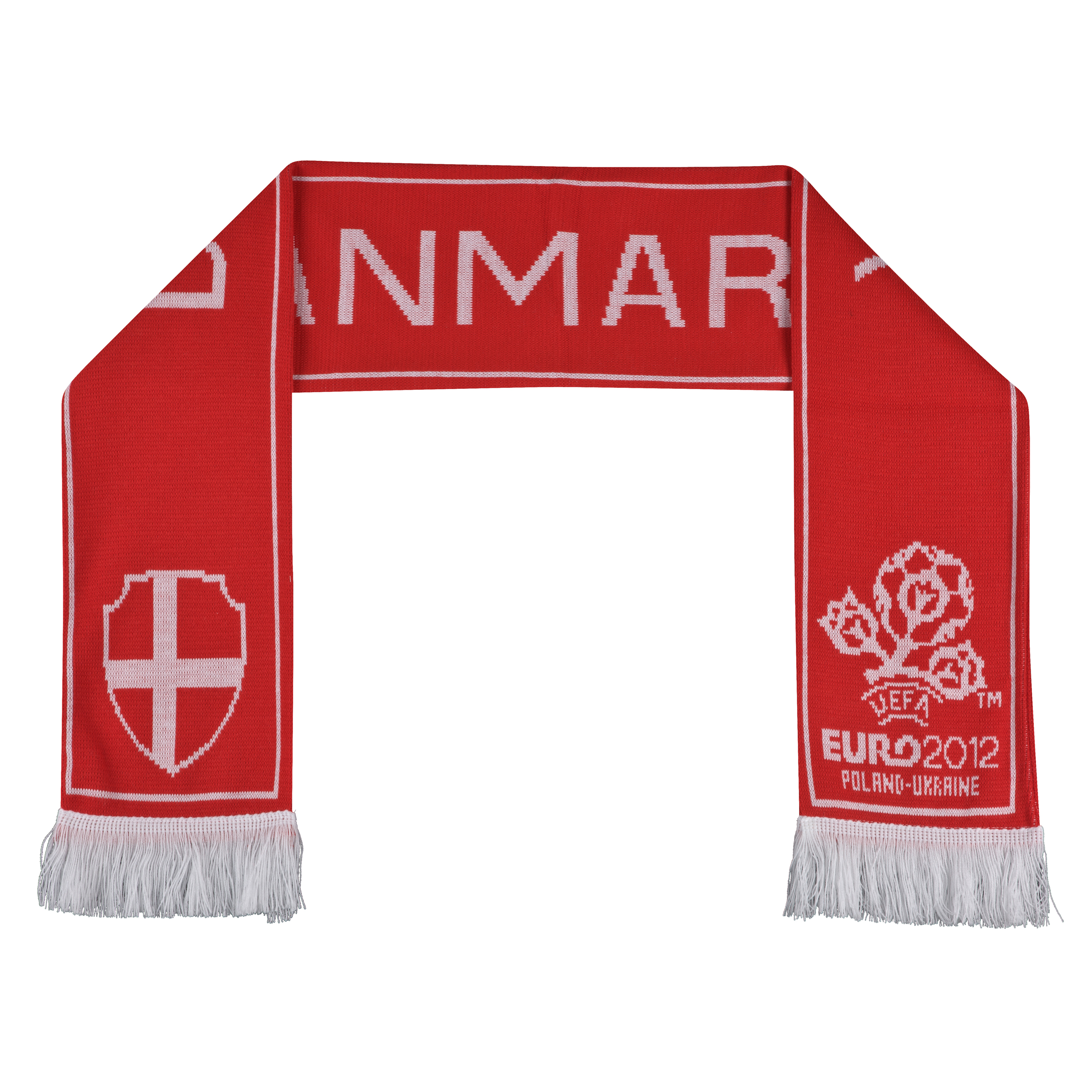 Euro 2012 Denmark Jacquard Scarf - Red/White